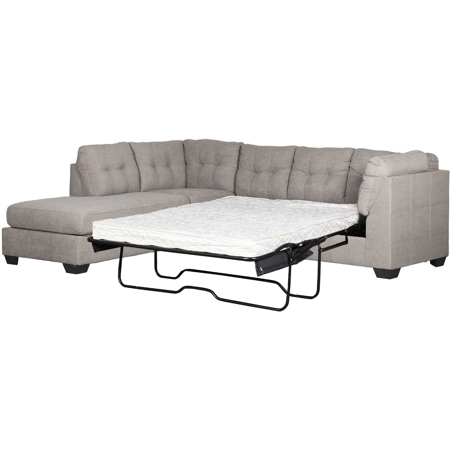 Lucy Dark Grey 2 Piece Sectionals With Raf Chaise Inside Fashionable Sleeper Sectional (View 8 of 20)