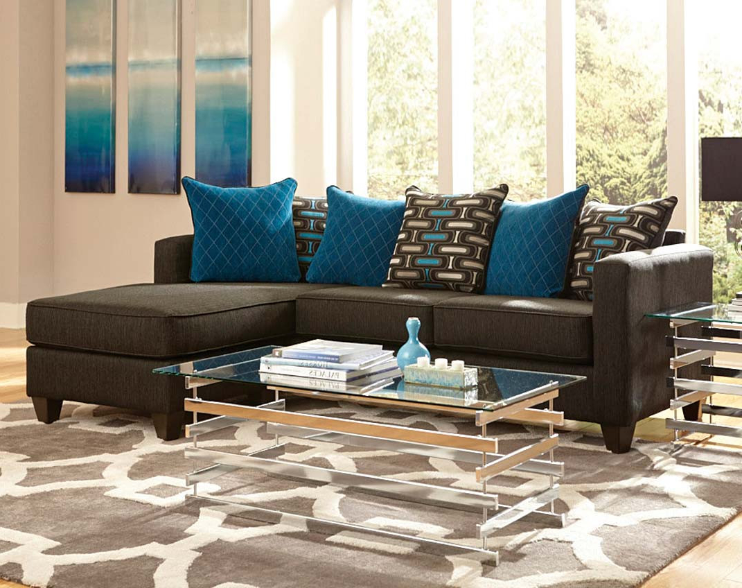 Lucy Dark Grey 2 Piece Sleeper Sectionals With Laf Chaise Pertaining To Well Liked 2 Pc. Black Sectional Couch With Chaise (Gallery 19 of 20)