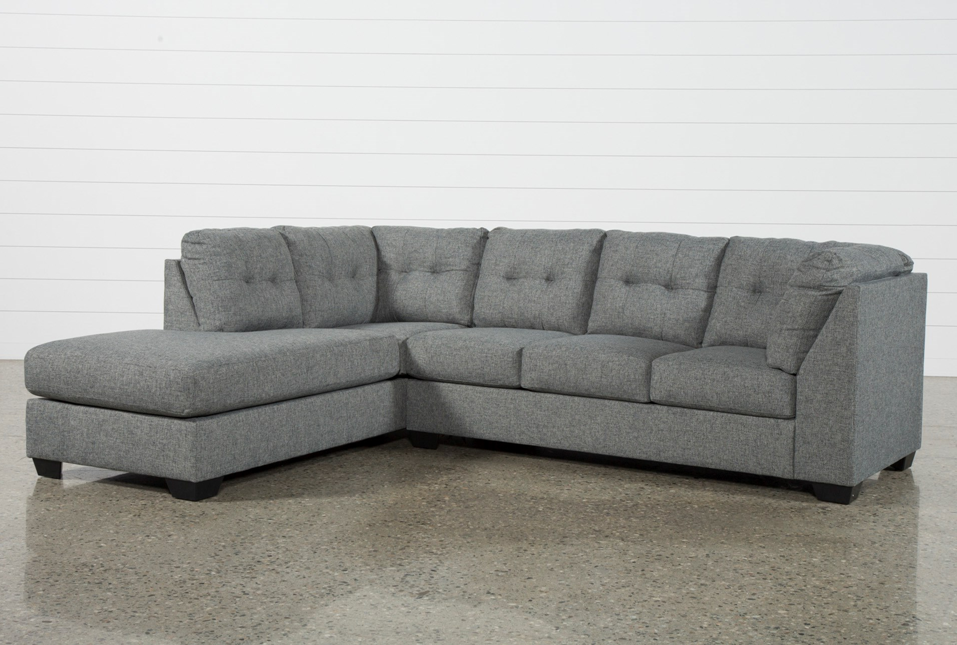 Lucy Dark Grey 2 Piece Sleeper Sectionals With Laf Chaise With Fashionable Sleeper Sectional With Chaise – Tidex (Gallery 10 of 20)