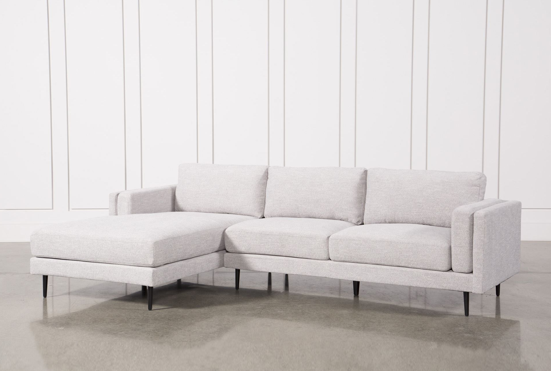 Lucy Dark Grey 2 Piece Sleeper Sectionals With Raf Chaise Intended For Popular Aquarius Light Grey 2 Piece Sectional W/raf Chaise (View 11 of 20)
