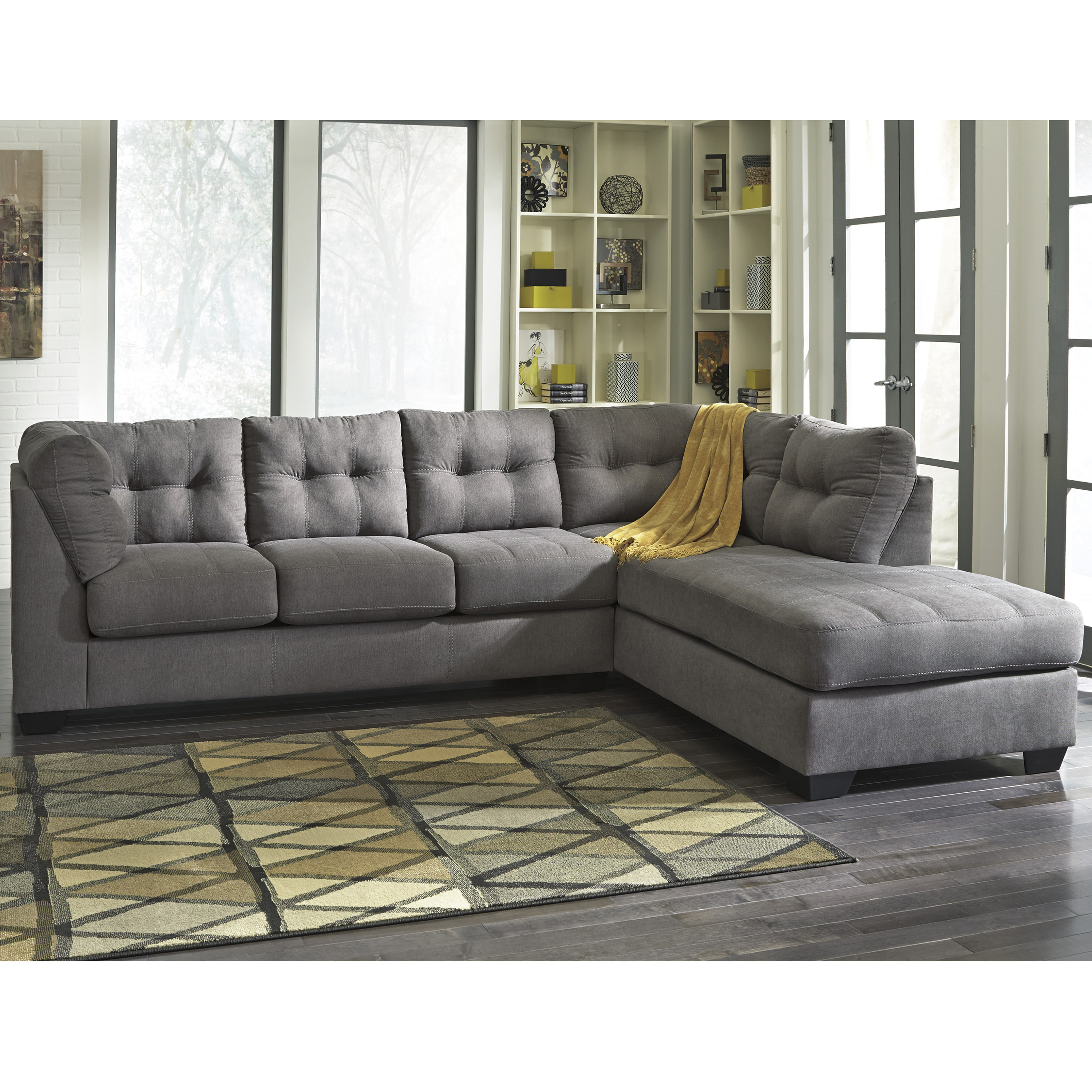Lucy Dark Grey 2 Piece Sleeper Sectionals With Raf Chaise Within Preferred Furniture: Cool Cheap Sectional For Elegant Living Room Design (View 14 of 20)