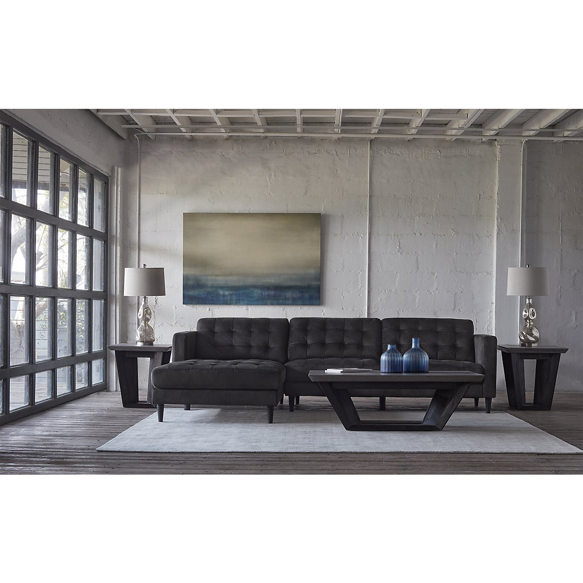 Lucy Grey 2 Piece Sectionals With Raf Chaise In Most Up To Date Dark Grey Sectional – Tidex (View 6 of 20)