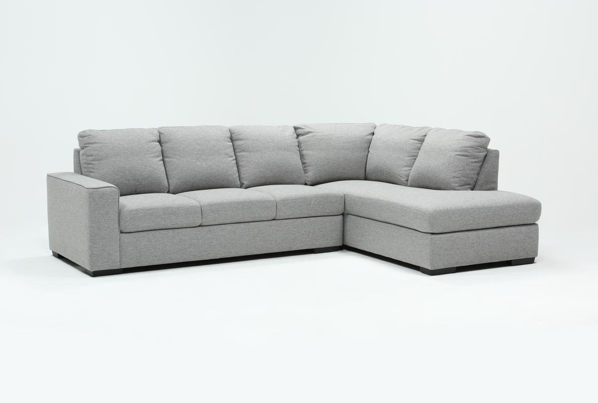 Lucy Grey 2 Piece Sectionals With Raf Chaise Inside Fashionable Lucy Grey 2 Piece Sleeper Sectional W/laf Chaise (View 7 of 20)