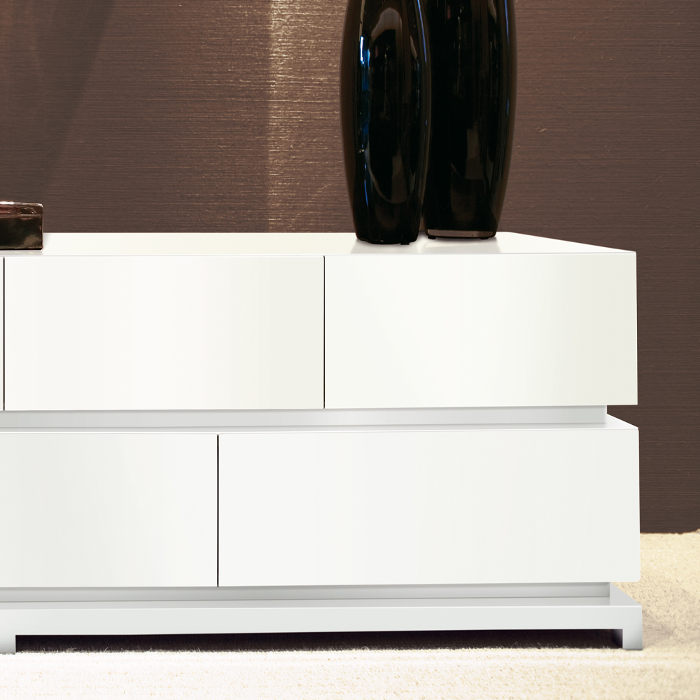 Luxury Modern White Lacquered Buffet (Gallery 12 of 20)