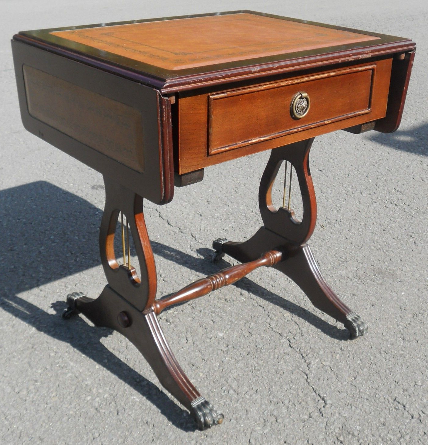 Lyre Coffee Tables Within Most Current Small Dropleaf Regency Style Coffee Table (View 13 of 20)