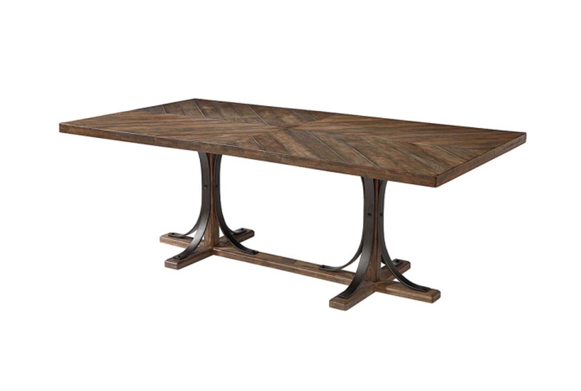 Magnolia Home Ellipse Cocktail Tables By Joanna Gaines Intended For Widely Used Magnolia Home Shop Floor Dining Table With Iron Trestlejoanna (View 5 of 20)