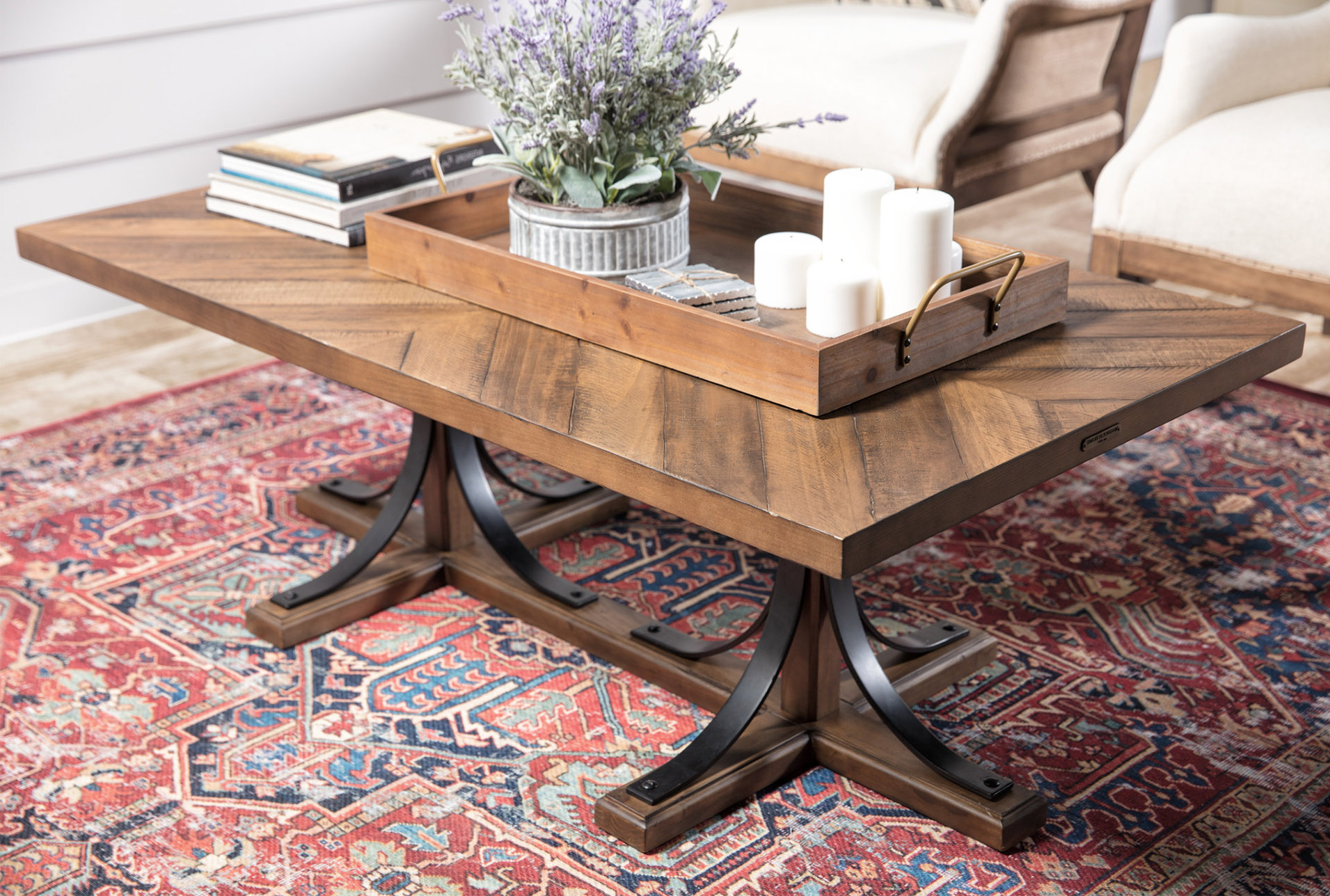 Magnolia Home Iron Trestle Cocktail Tablejoanna Gaines In 2018 In Fashionable Magnolia Home Iron Trestle Cocktail Tables (View 8 of 20)