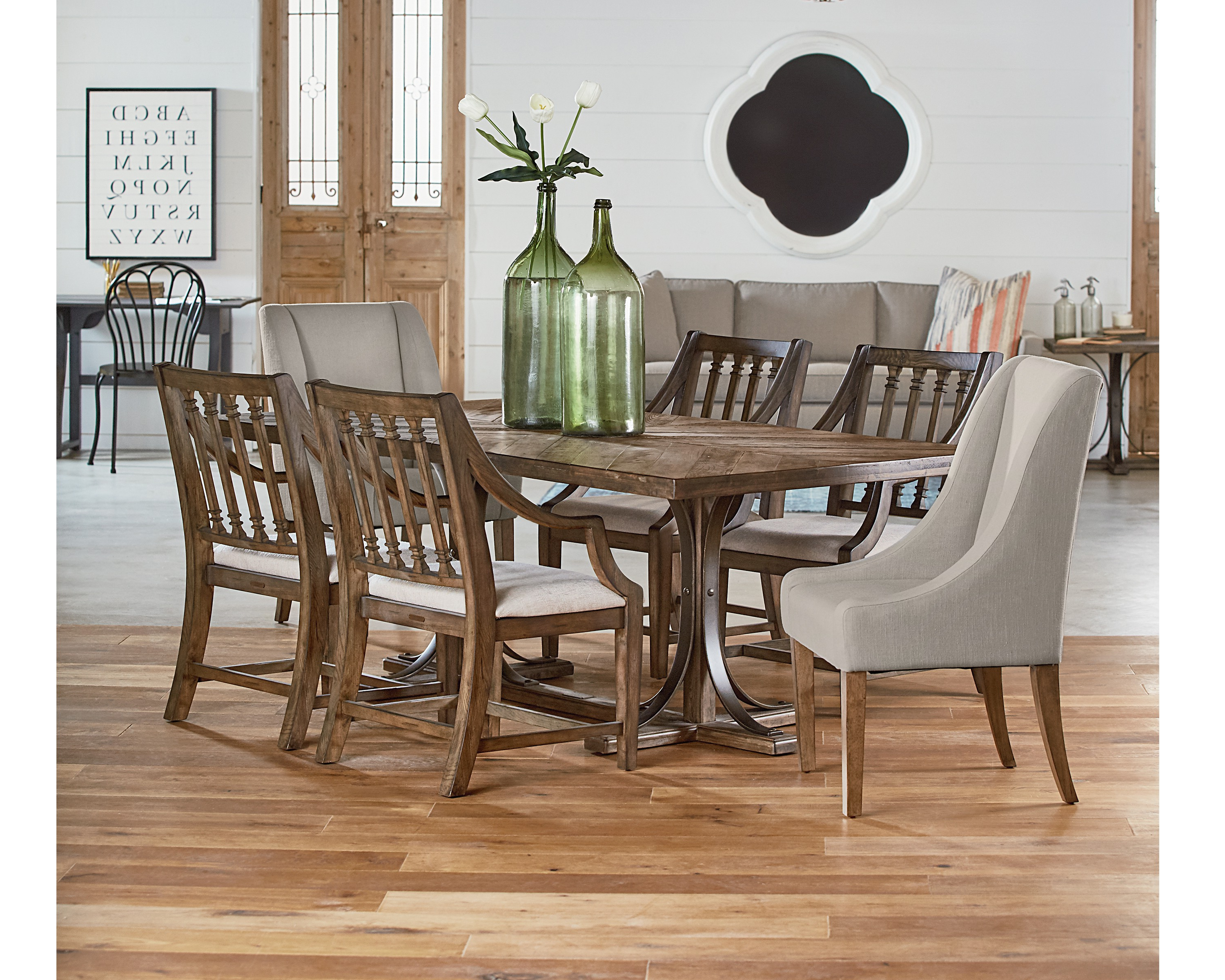 Magnolia Home Iron Trestle Cocktail Tables Intended For Widely Used Iron Trestle + Revival – Magnolia Home (View 8 of 20)