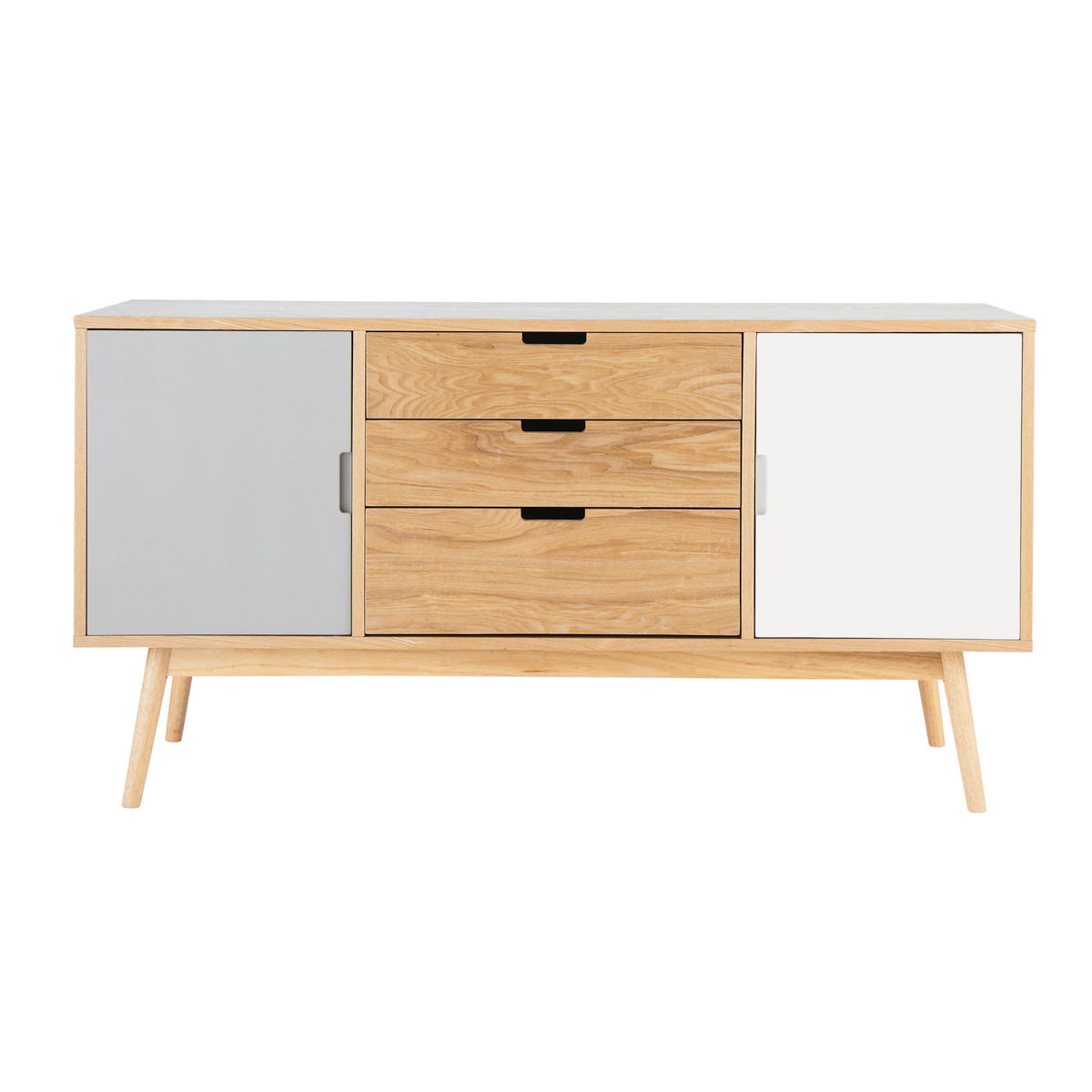 Maisons Du Monde In Widely Used Walnut Finish 2 Door/3 Drawer Sideboards (View 5 of 20)