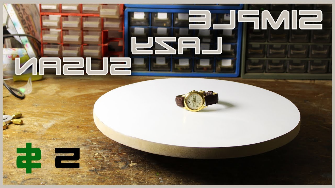 "Make A Simple Rotating Table ""lazy Susan"" – Youtube Intended For Trendy Spin Rotating Coffee Tables (View 8 of 20)"