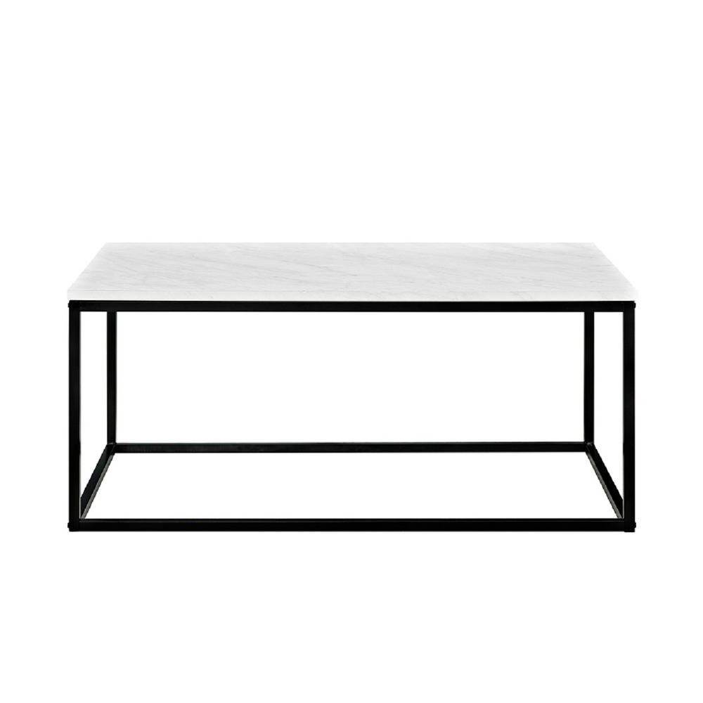 Marble And Dark Wood Coffee Table – Coffee Table Design Ideas With Regard To Best And Newest Alcide Rectangular Marble Coffee Tables (View 9 of 20)