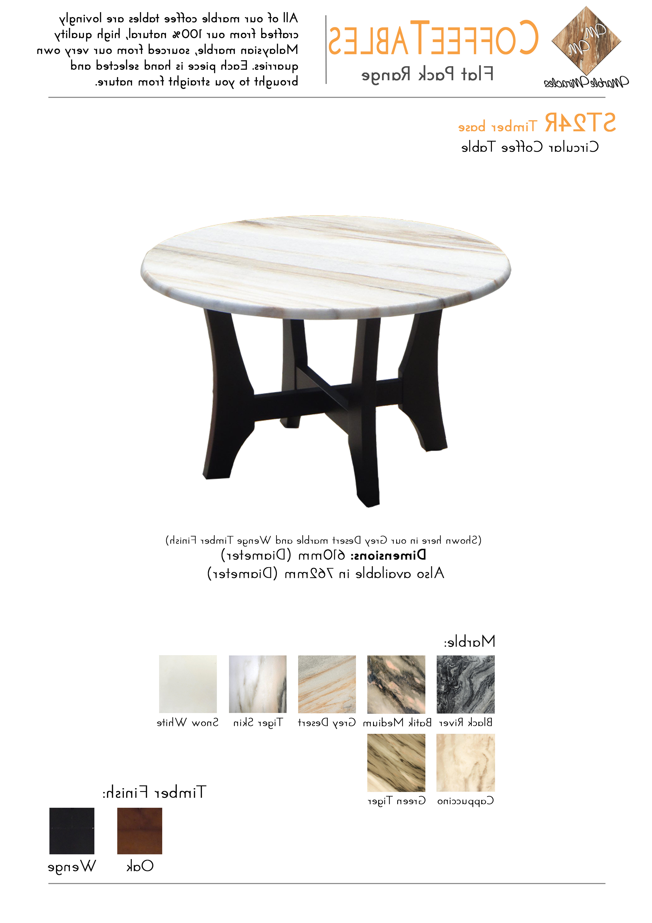 Marble Miracles Pty Ltd Inside Most Up To Date Batik Coffee Tables (View 12 of 20)