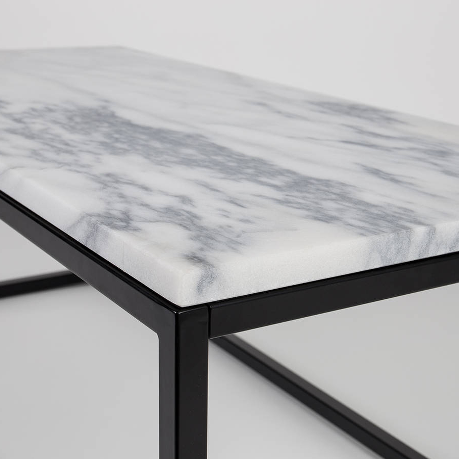 Marble Top Coffee Table With Black Steel Framecuckooland Pertaining To Best And Newest Marble Coffee Tables (View 11 of 20)