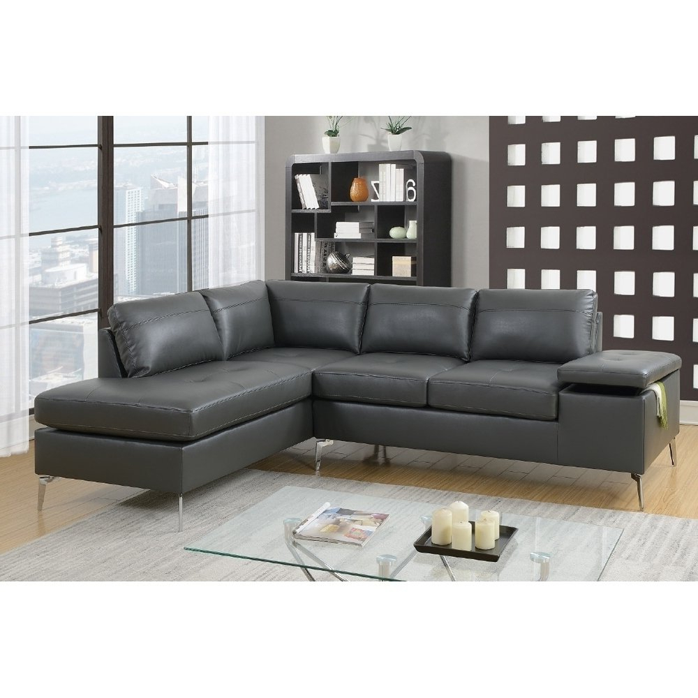 Marcus Grey 6 Piece Sectionals With  Power Headrest & Usb In Most Popular Grey, Leather Living Room Furniture (View 11 of 20)