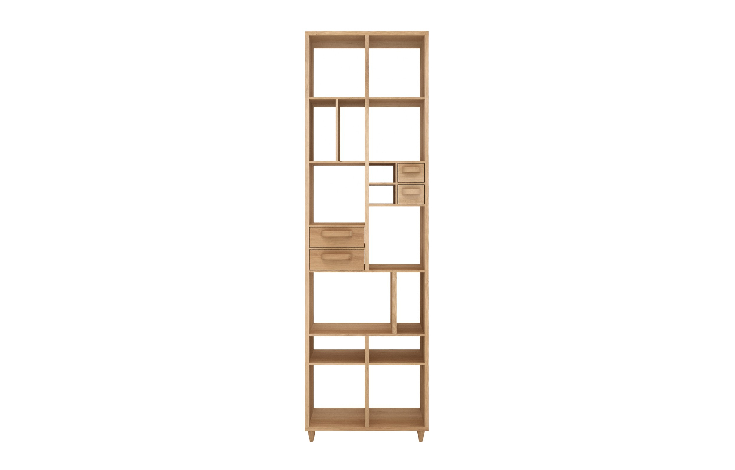 Marius Dark Grey 3 Piece Sectionals Inside Widely Used Marius Oak Pirouette Book Rack (View 6 of 20)