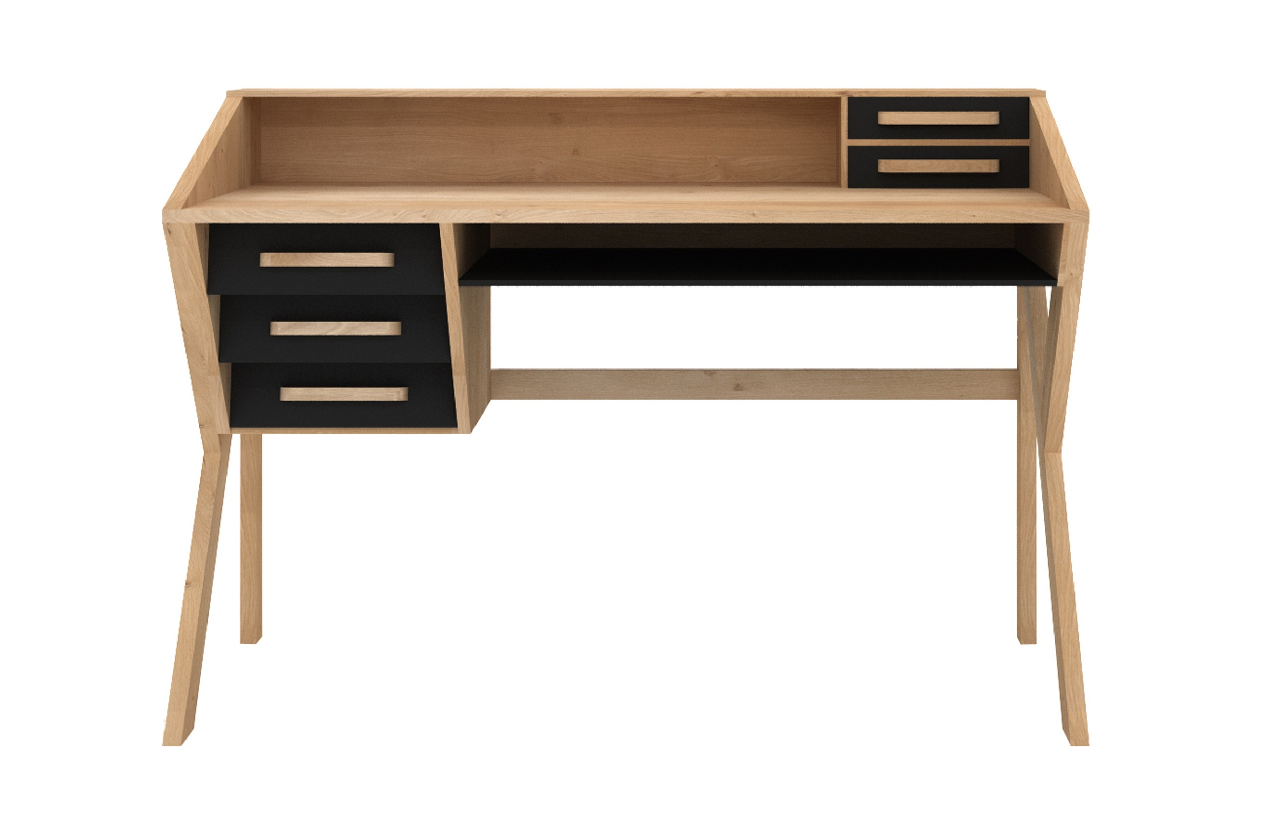 Marius Dark Grey 3 Piece Sectionals Intended For Widely Used Marius Oak Origami Desk – Black (View 3 of 20)