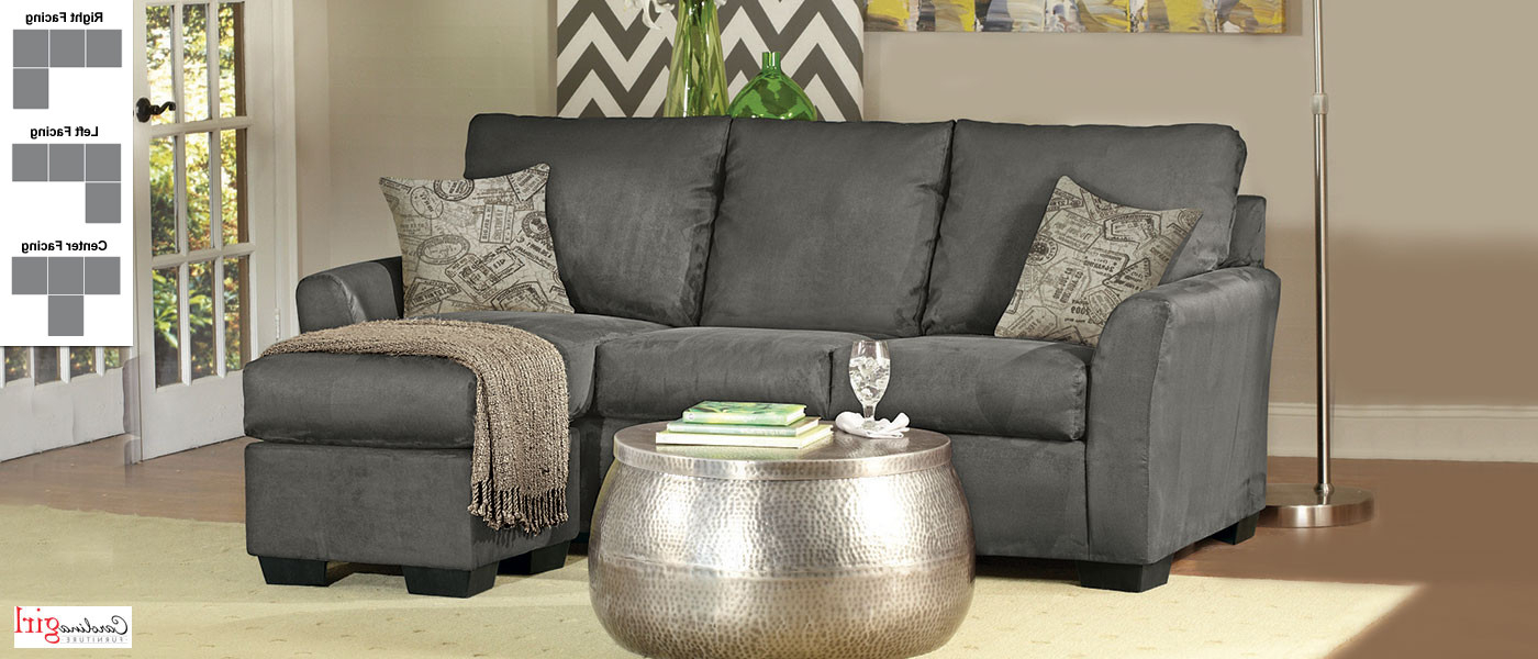 Mcdade Graphite 2 Piece Sectionals With Laf Chaise With Well Known De La Pièce Graphite (View 9 of 20)