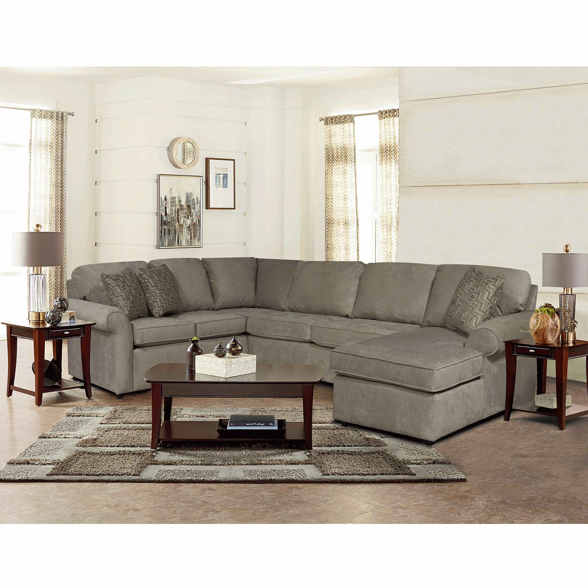 Mercury Right Arm Facing Innerspring Queen Throughout Current Lucy Dark Grey 2 Piece Sectionals With Raf Chaise (Gallery 7 of 20)
