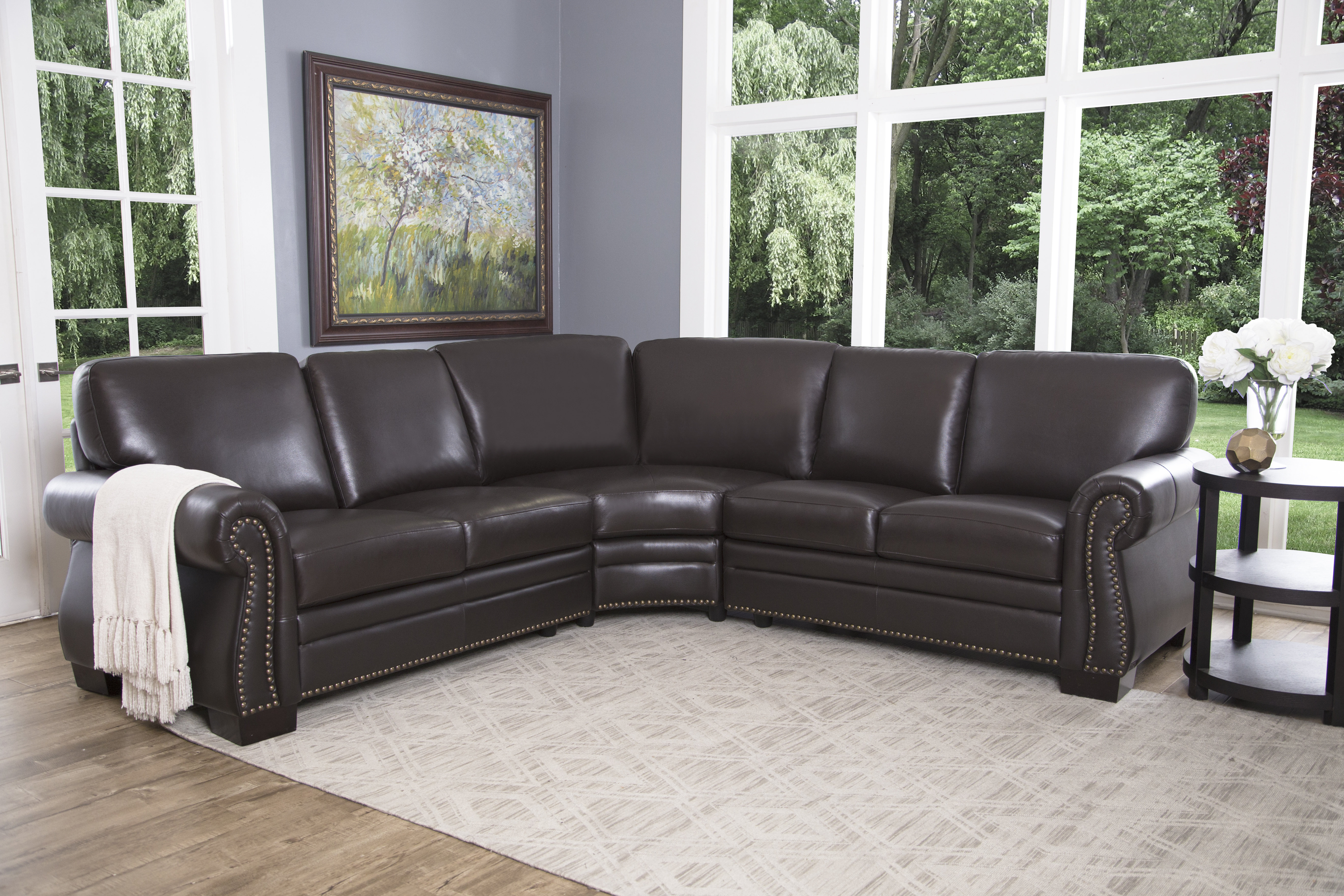 Mesa Foam 2 Piece Sectionals With Fashionable Darby Home Co Barnabas Leather Sectional & Reviews (View 10 of 20)