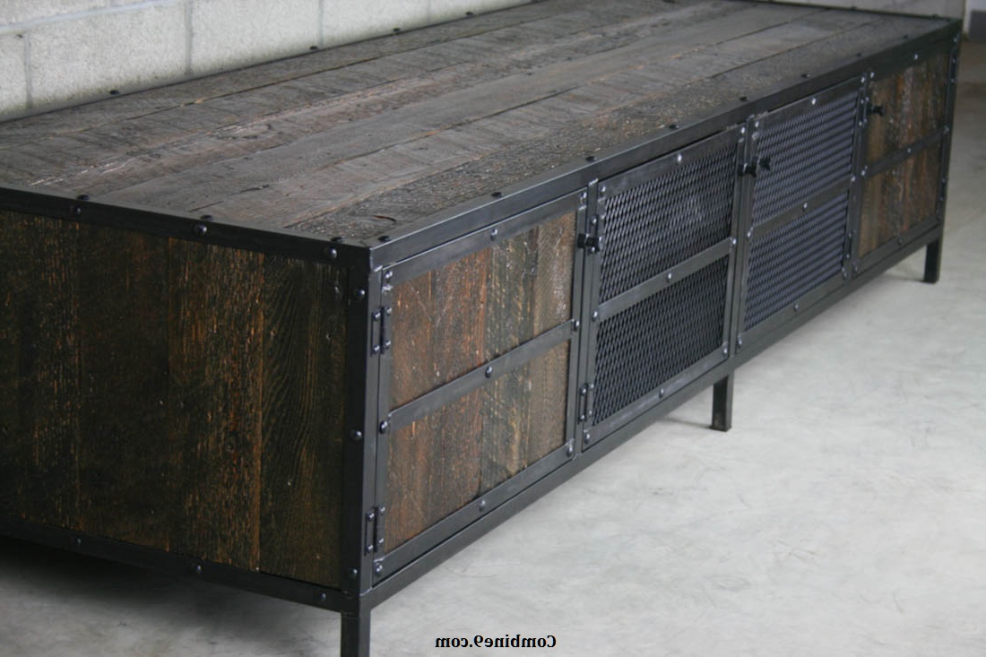 Metal Framed Reclaimed Wood Sideboards Inside Well Known Combine  (View 10 of 20)
