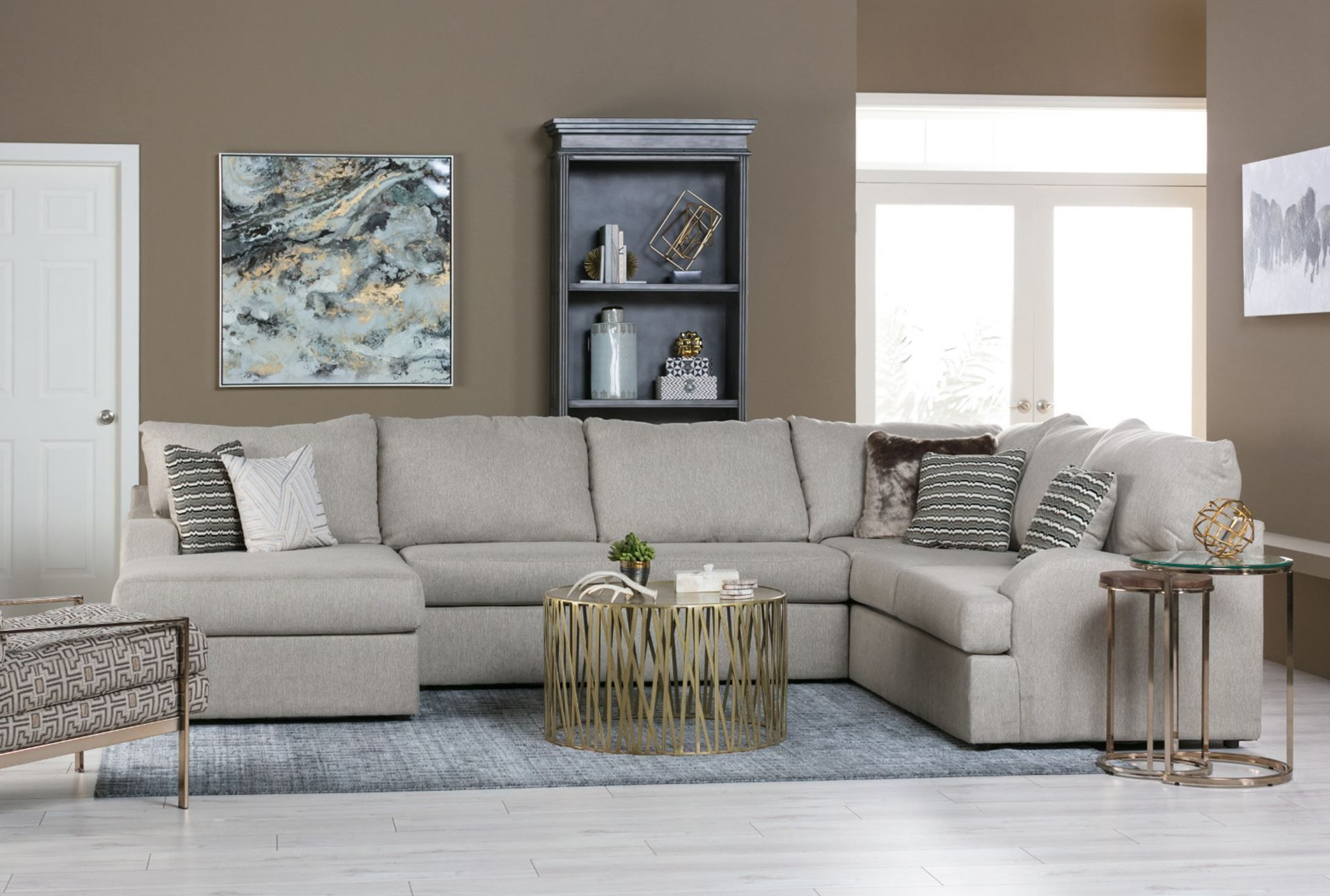 Meyer 3 Piece Sectional W/raf Chaise (Gallery 3 of 20)