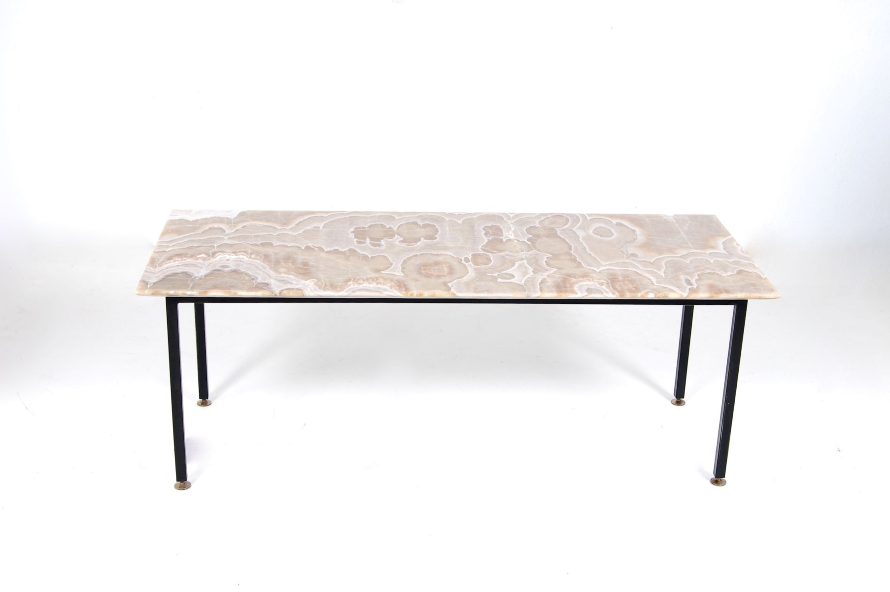 Mid Century Italian Iron, Brass, & Marble Coffee Table For Sale At Inside Newest Iron Marble Coffee Tables (View 13 of 20)