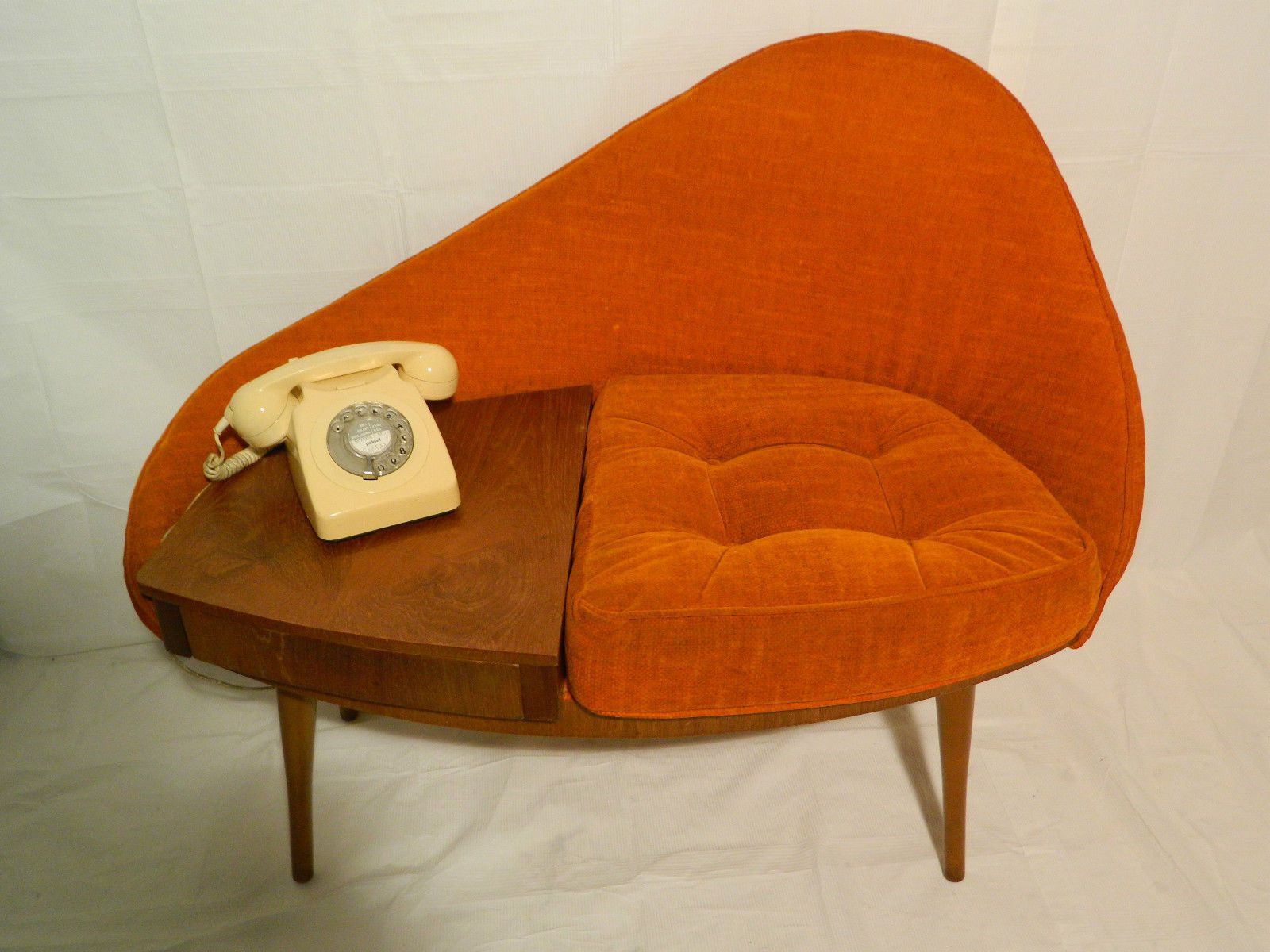 Mid Century Modern Egg Tables For Recent Vintage Mid Century Egg 1960`s Chippy Heath Telephone Seat Atomic (View 14 of 20)