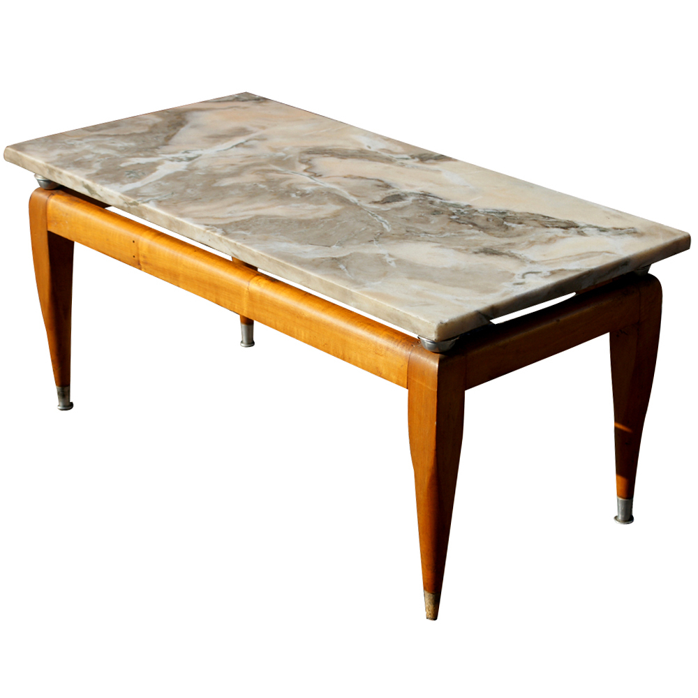 Midcentury Retro Style Modern Architectural Vintage Furniture From Pertaining To Well Known Mid Century Modern Marble Coffee Tables (View 18 of 20)
