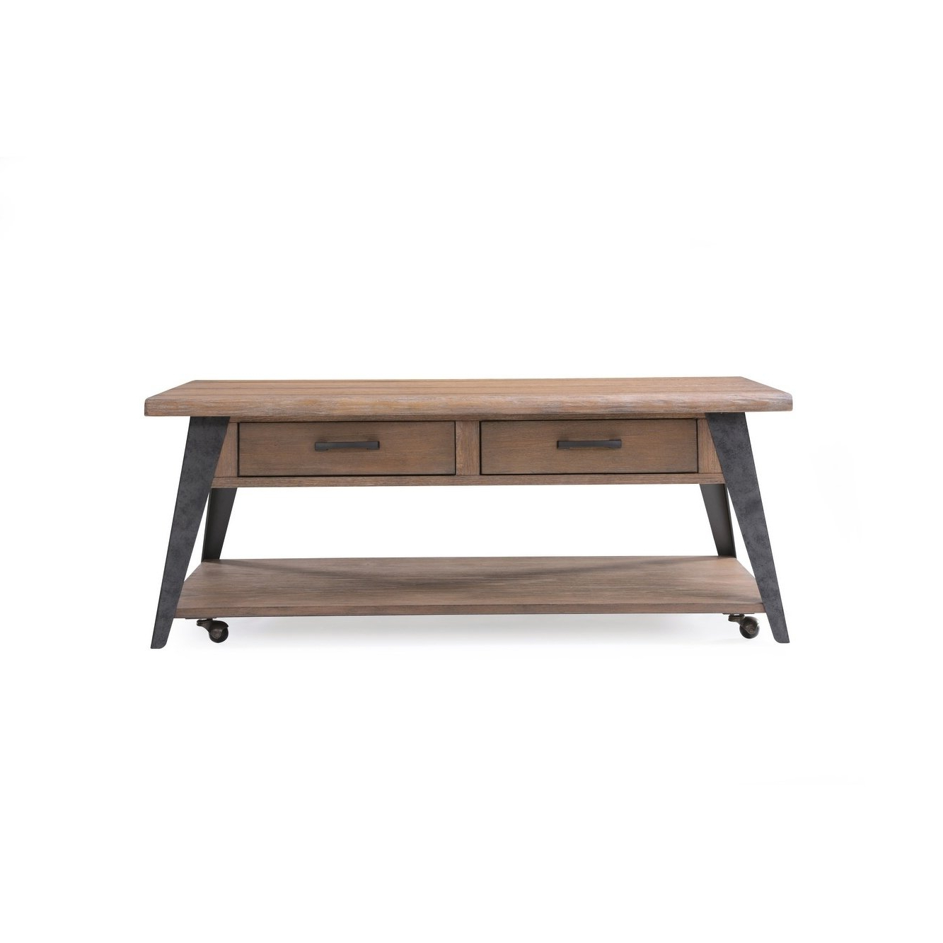 Mill Coffee Tables Pertaining To Latest Shop Emerald Home Harper's Mill Weathered Tan Coffee Table – On Sale (View 14 of 20)