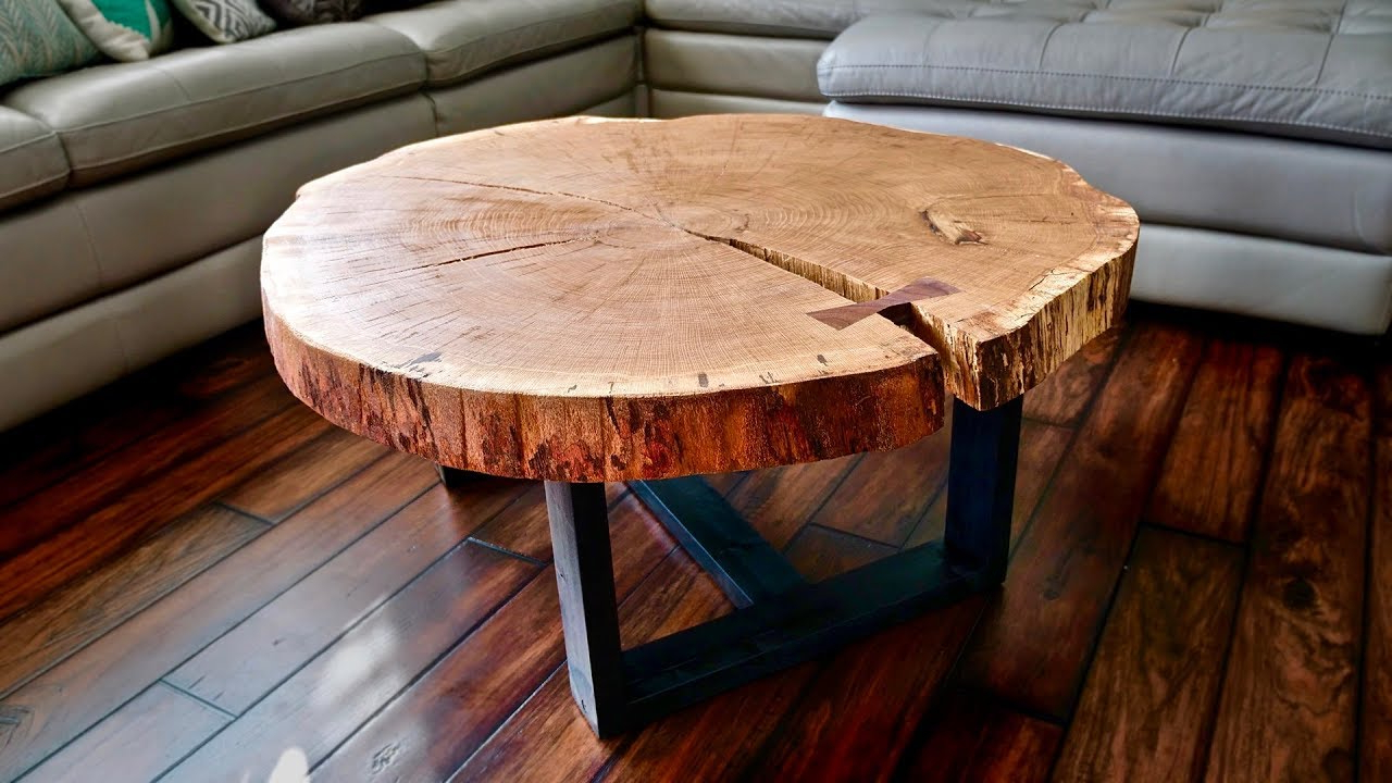 Mill Large Coffee Tables Pertaining To Widely Used Live Edge Coffee Table, How To Flatten A Live Edge Slab (View 9 of 20)