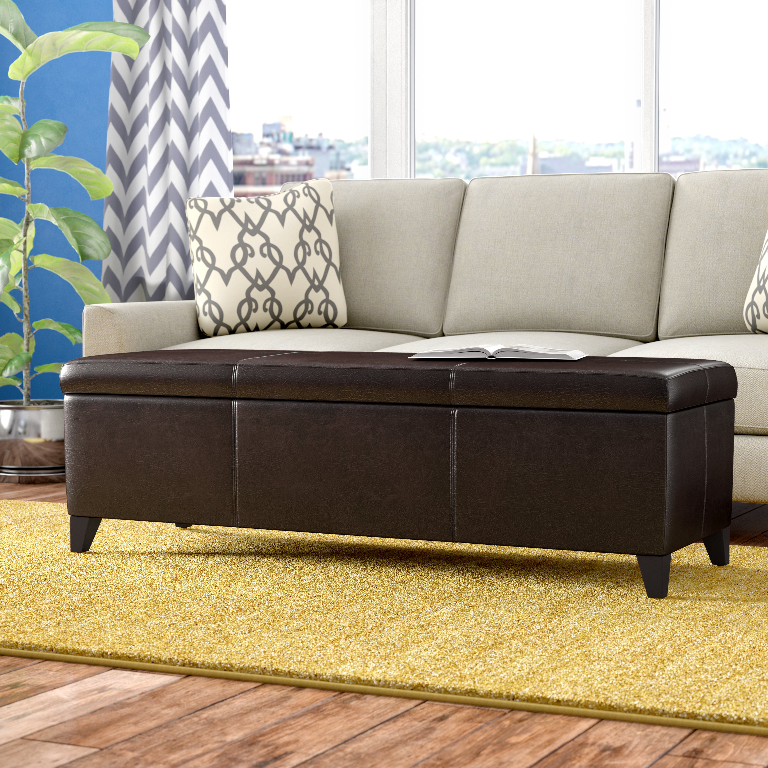 Mill Large Leather Coffee Tables With Favorite Andover Mills Denali Storage Ottoman & Reviews (View 13 of 20)