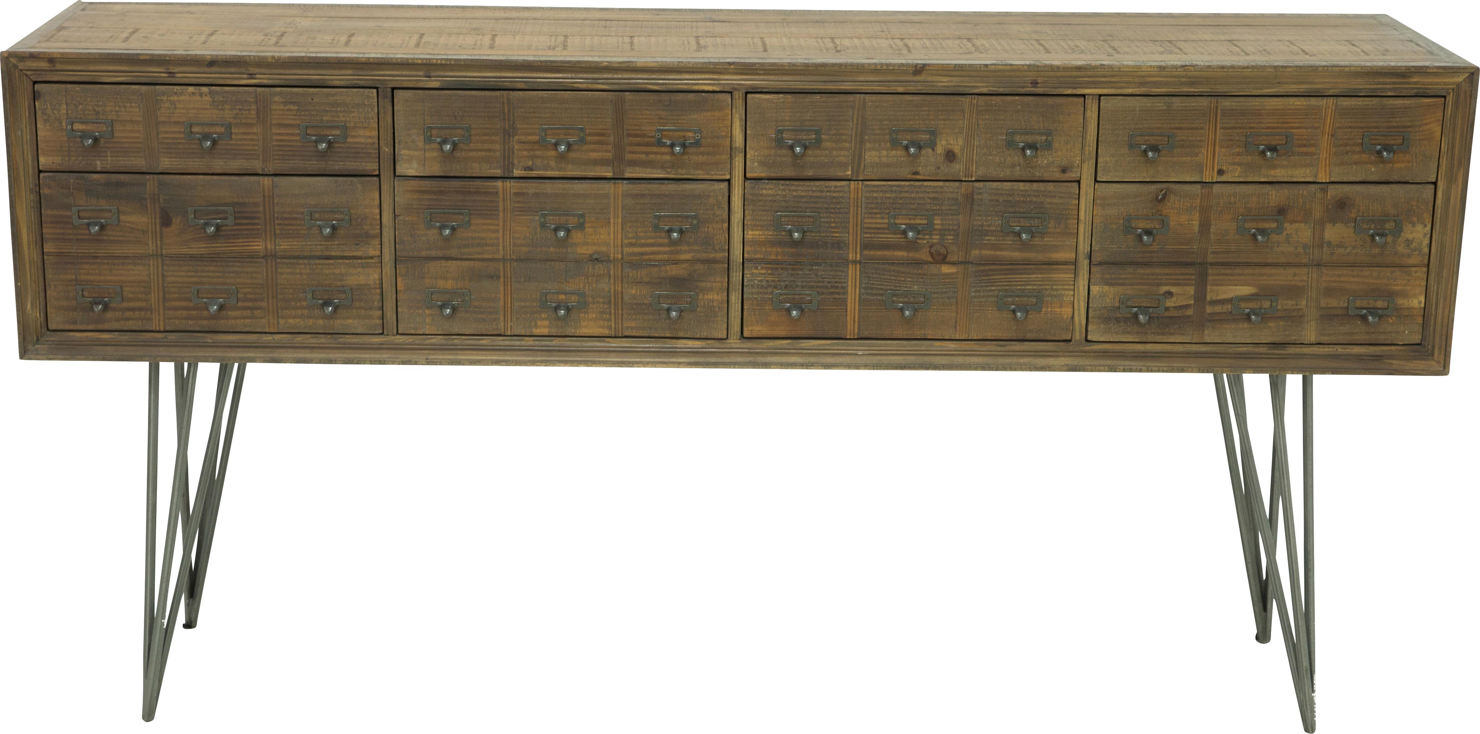 Millview Brown Sideboard – Servers Dark Wood Regarding Widely Used Reclaimed Elm 71 Inch Sideboards (View 7 of 20)