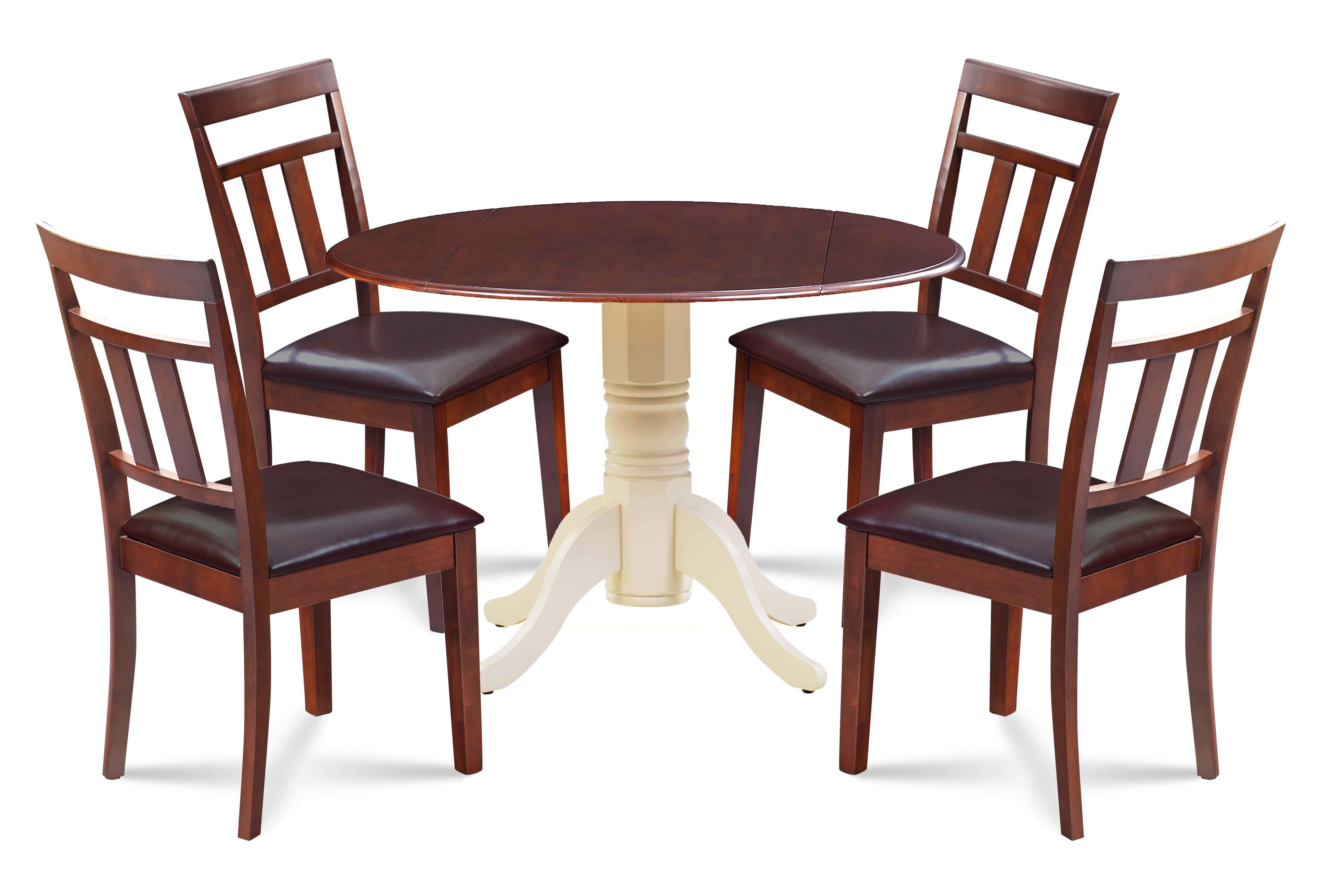 Millwood Pines Marius 5 Piece Drop Leaf Dining Set (View 16 of 20)