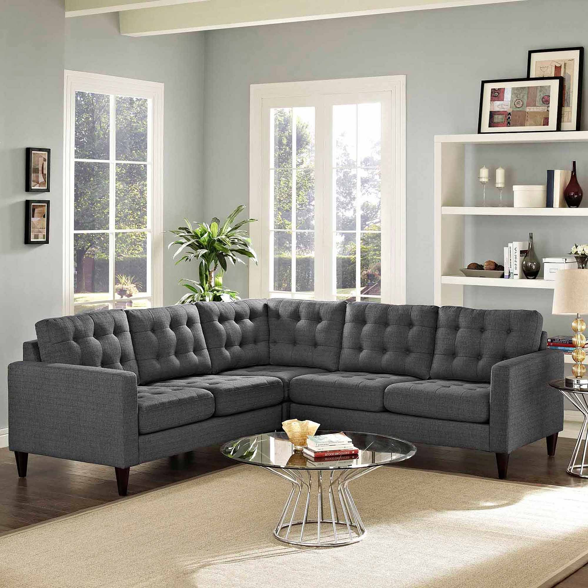 Moda 3 Piece Sectional With Chaise In Whitley 3 Piece Sectionals By Nate Berkus And Jeremiah Brent (View 2 of 20)