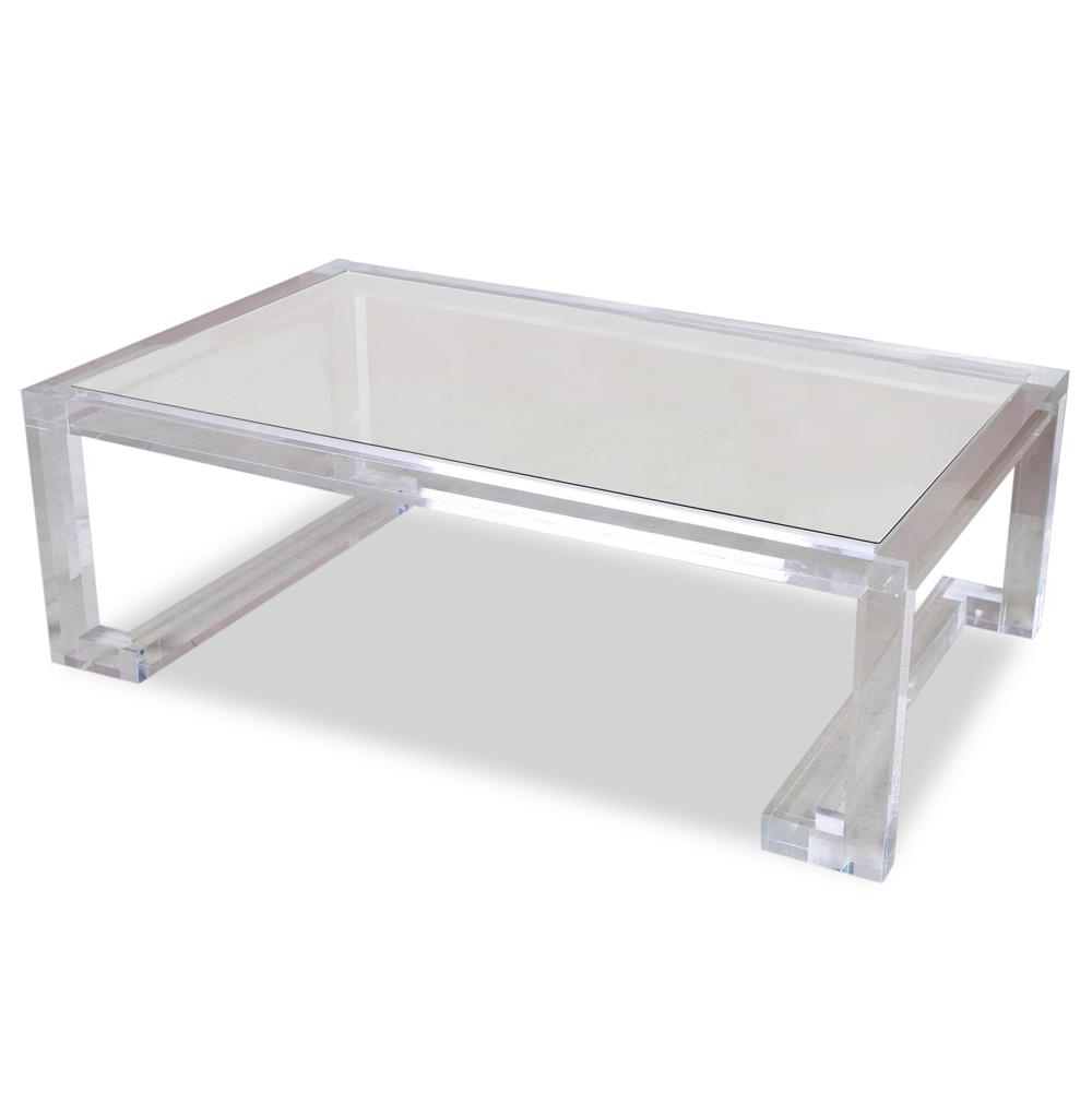 Modern Acrylic Coffee Tables Pertaining To Most Recently Released Interlude Ava Hollywood Regency Modern Glass Acrylic Coffee Table (Gallery 17 of 20)