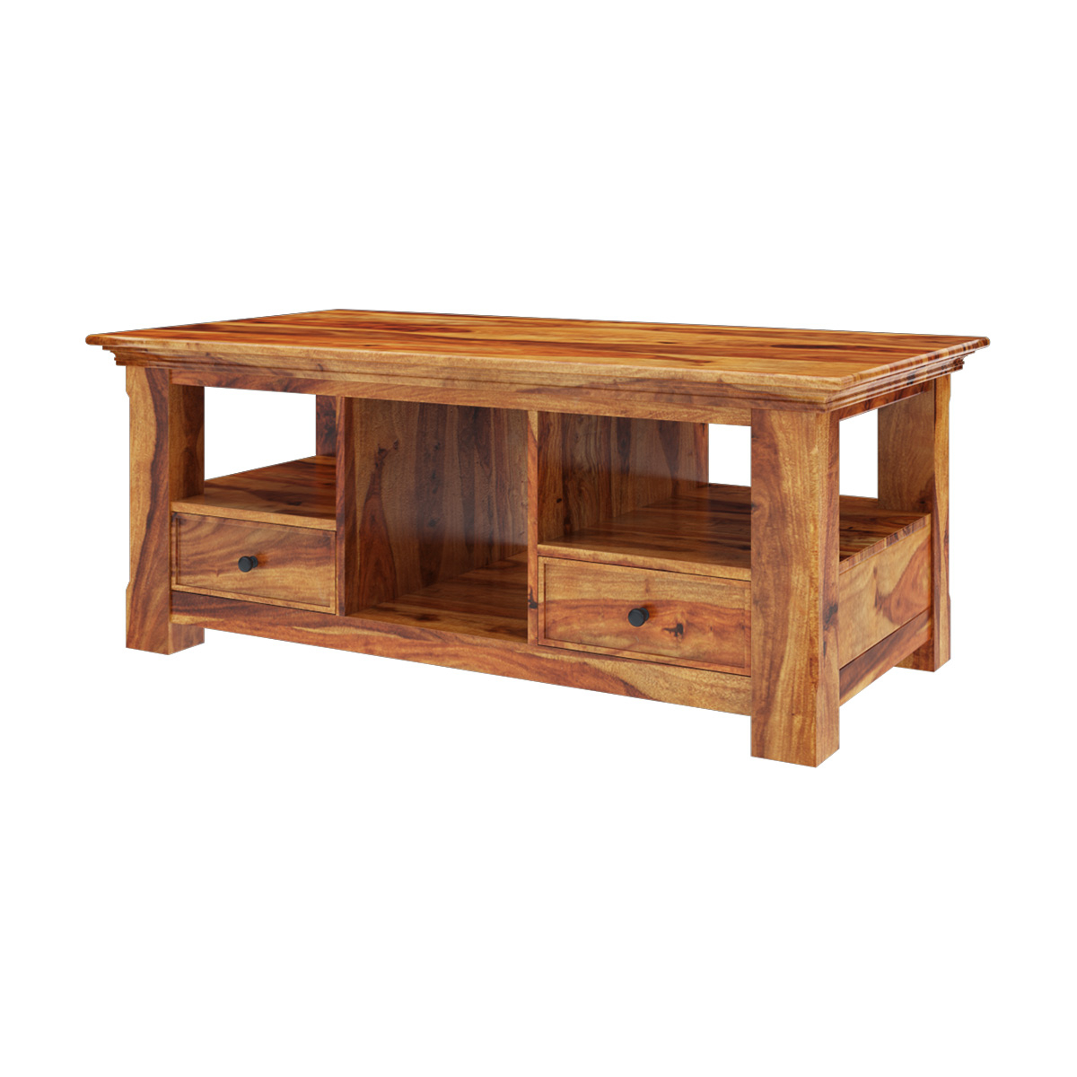 Modern Rustic Coffee Tables In Preferred Priscus Midcentury Modern Style Solid Wood Rustic Coffee Table (View 7 of 20)