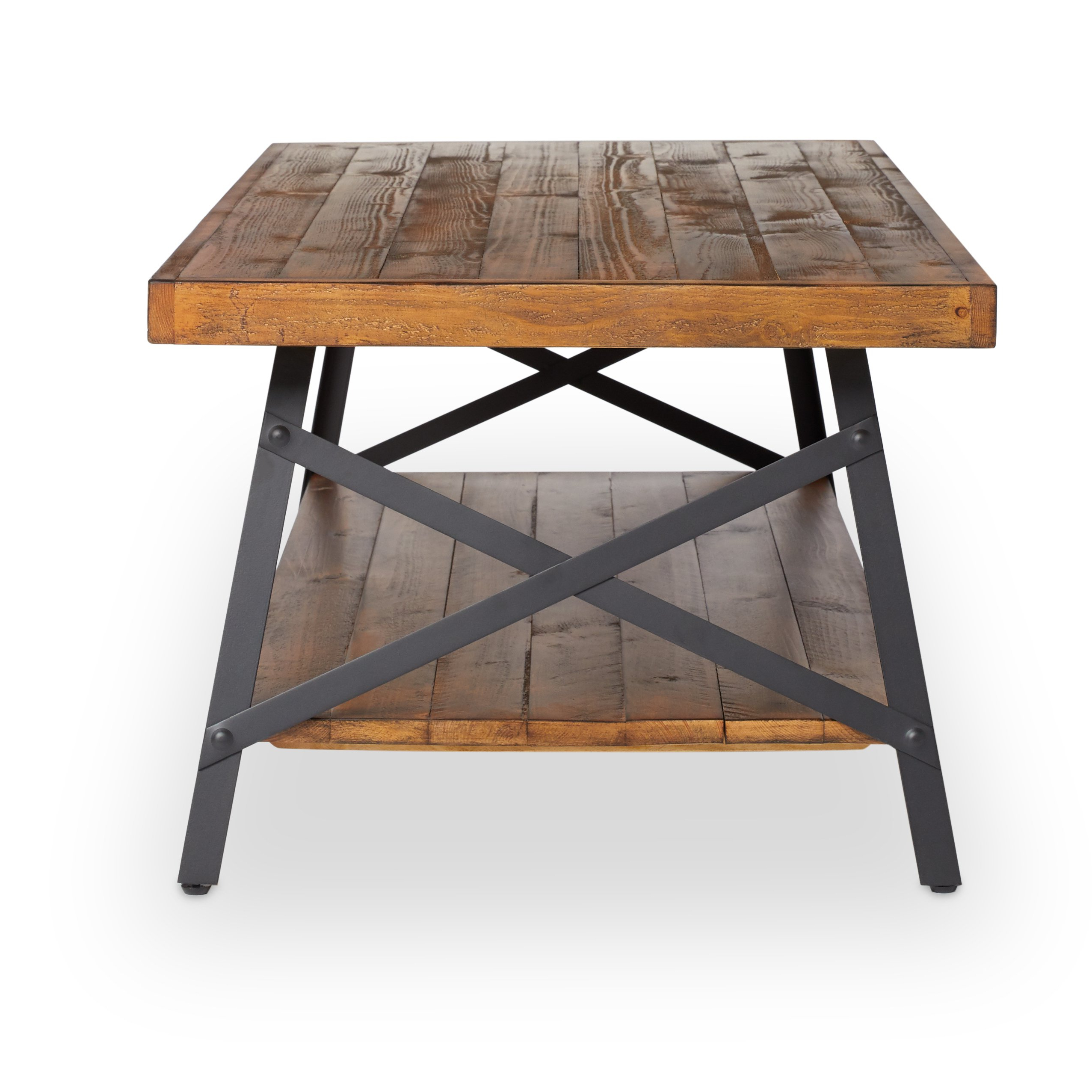 Modern Rustic Coffee Tables Throughout Latest Shop Pine Canopy Kaibab Modern Rustic Wood Coffee Table – Free (View 9 of 20)