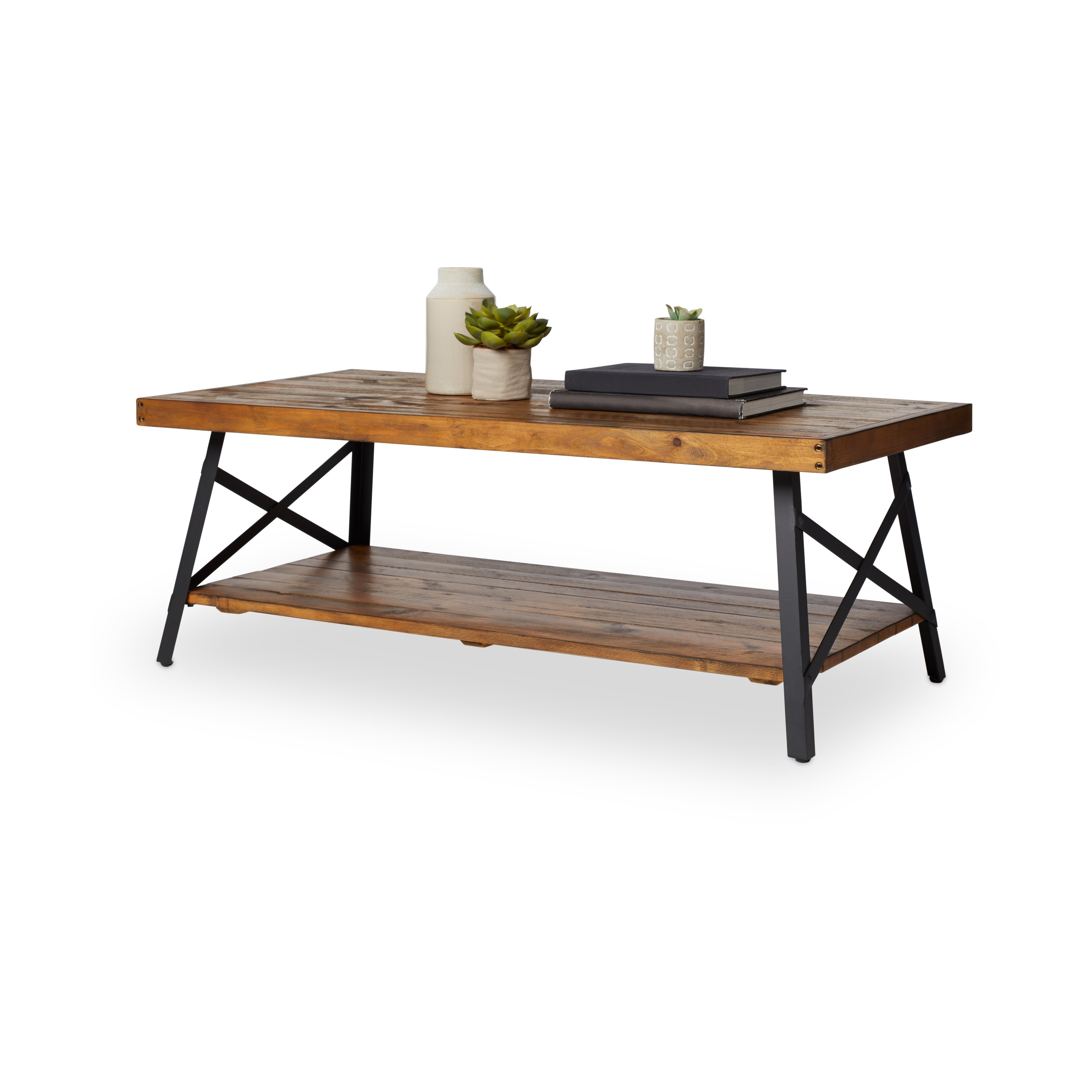 Modern Rustic Coffee Tables With Preferred Shop Carbon Loft Oliver Rustic Reclaimed Wood Coffee Table – On Sale (View 11 of 20)