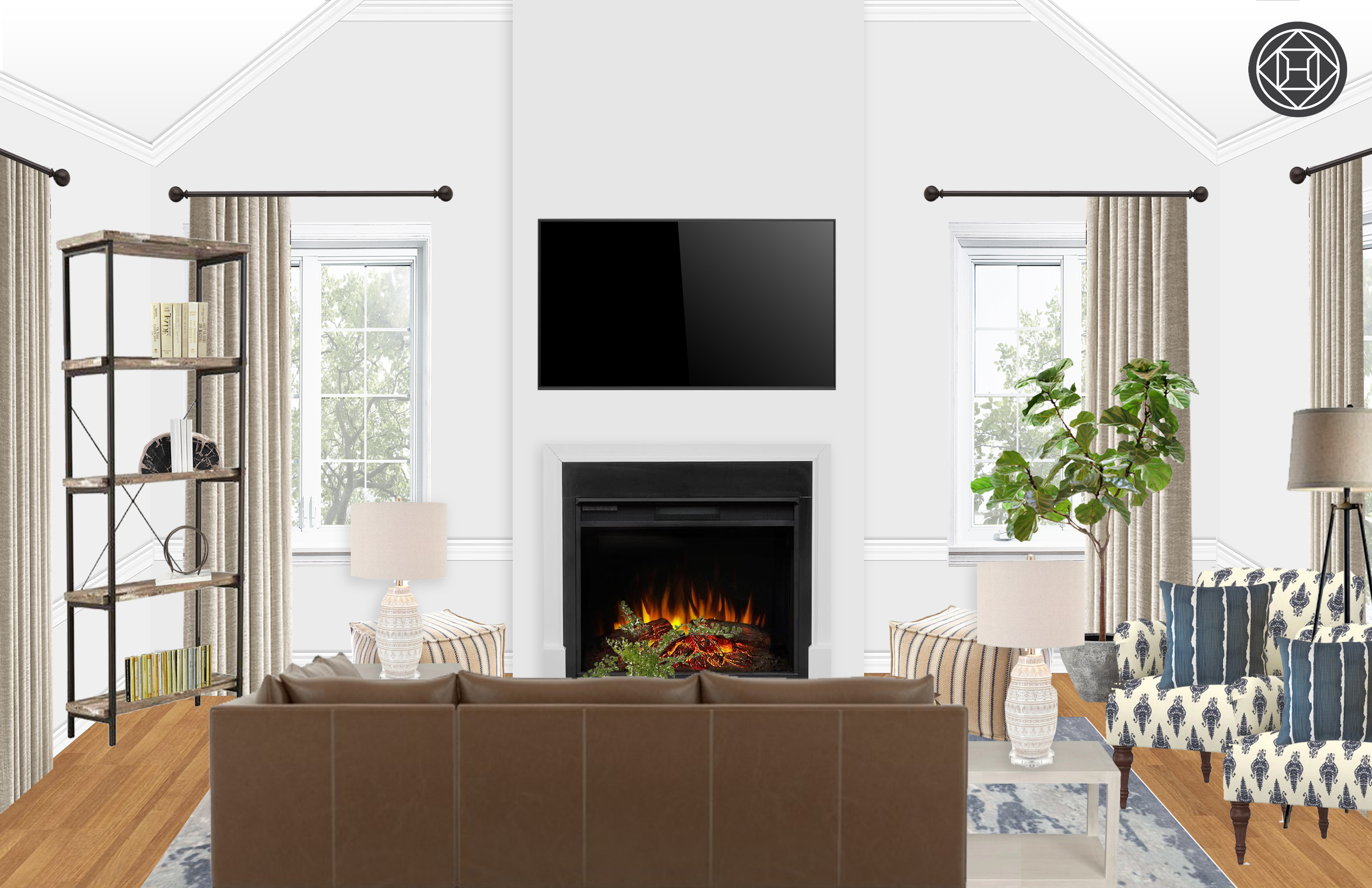 Modern, Rustic, Transitional Living Room Designhavenly Interior Intended For Trendy Elm Grande Ii 2 Piece Sectionals (View 12 of 20)