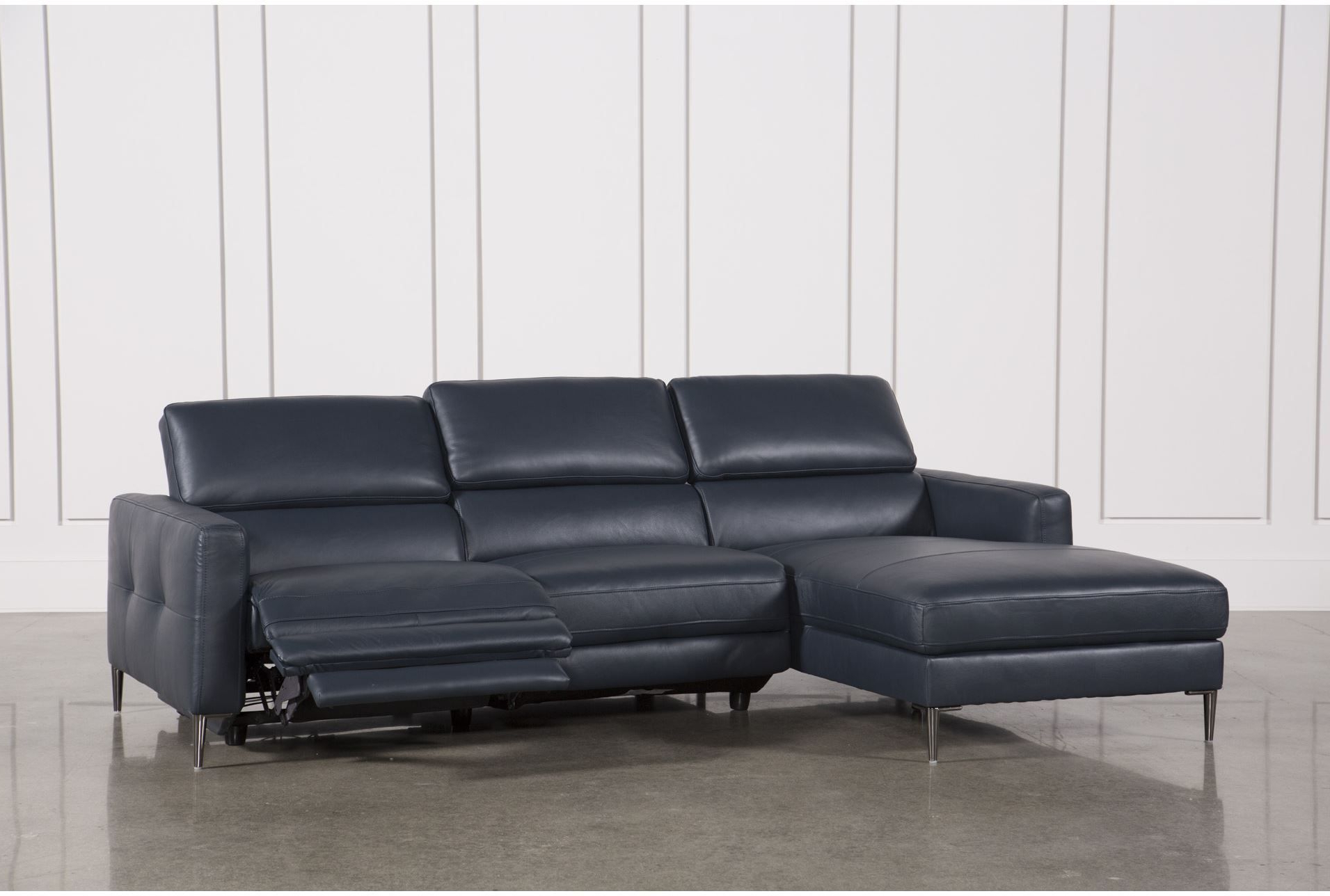 Modern Sectional Sofas Regarding Tess 2 Piece Power Reclining Sectionals With Laf Chaise (View 9 of 20)