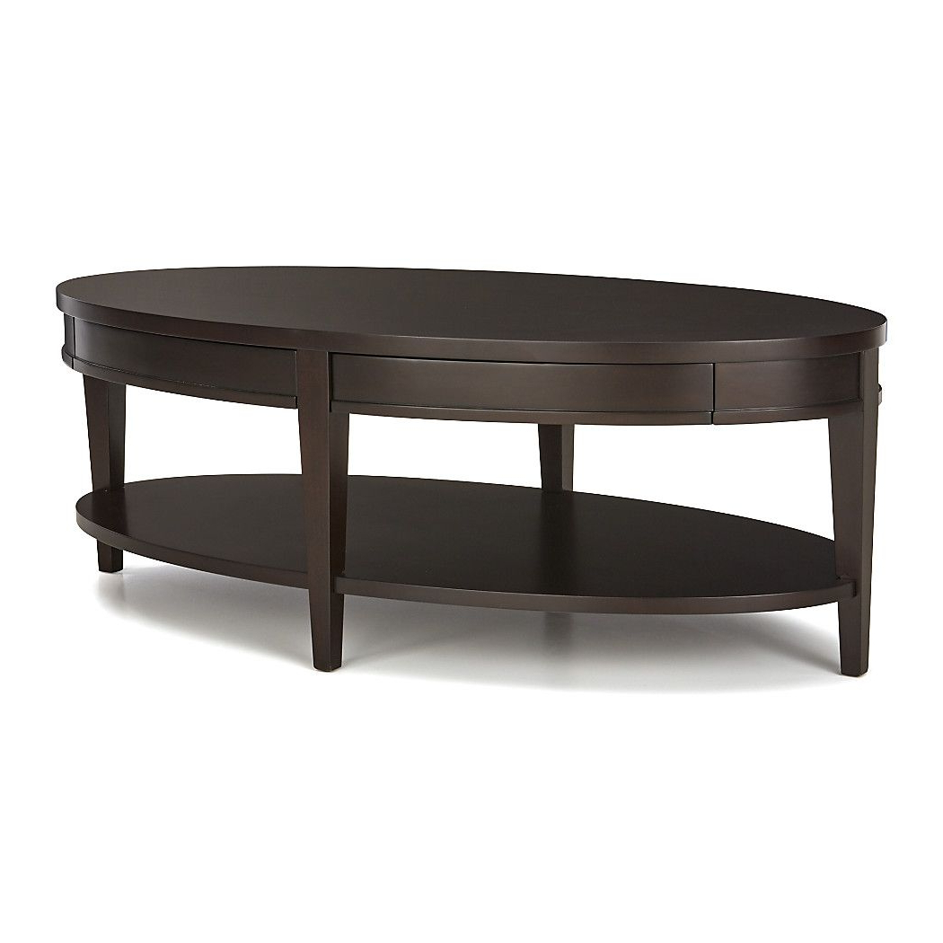 Moraga Barrel Coffee Tables For Favorite Shop Colette Oval Coffee Table With Drawers (View 6 of 20)