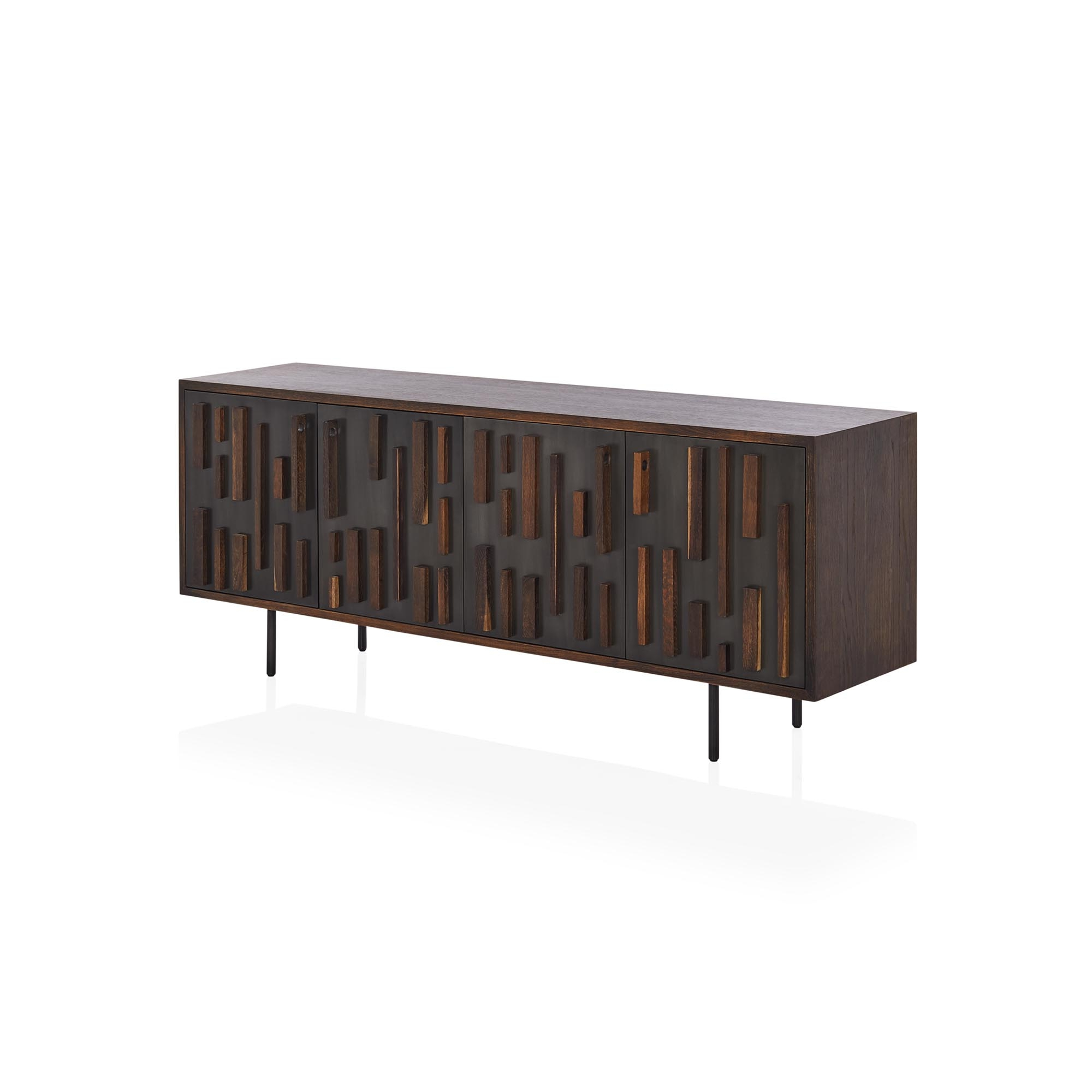 Morten Sideboard Regarding Well Liked Square Brass 4 Door Sideboards (View 16 of 20)