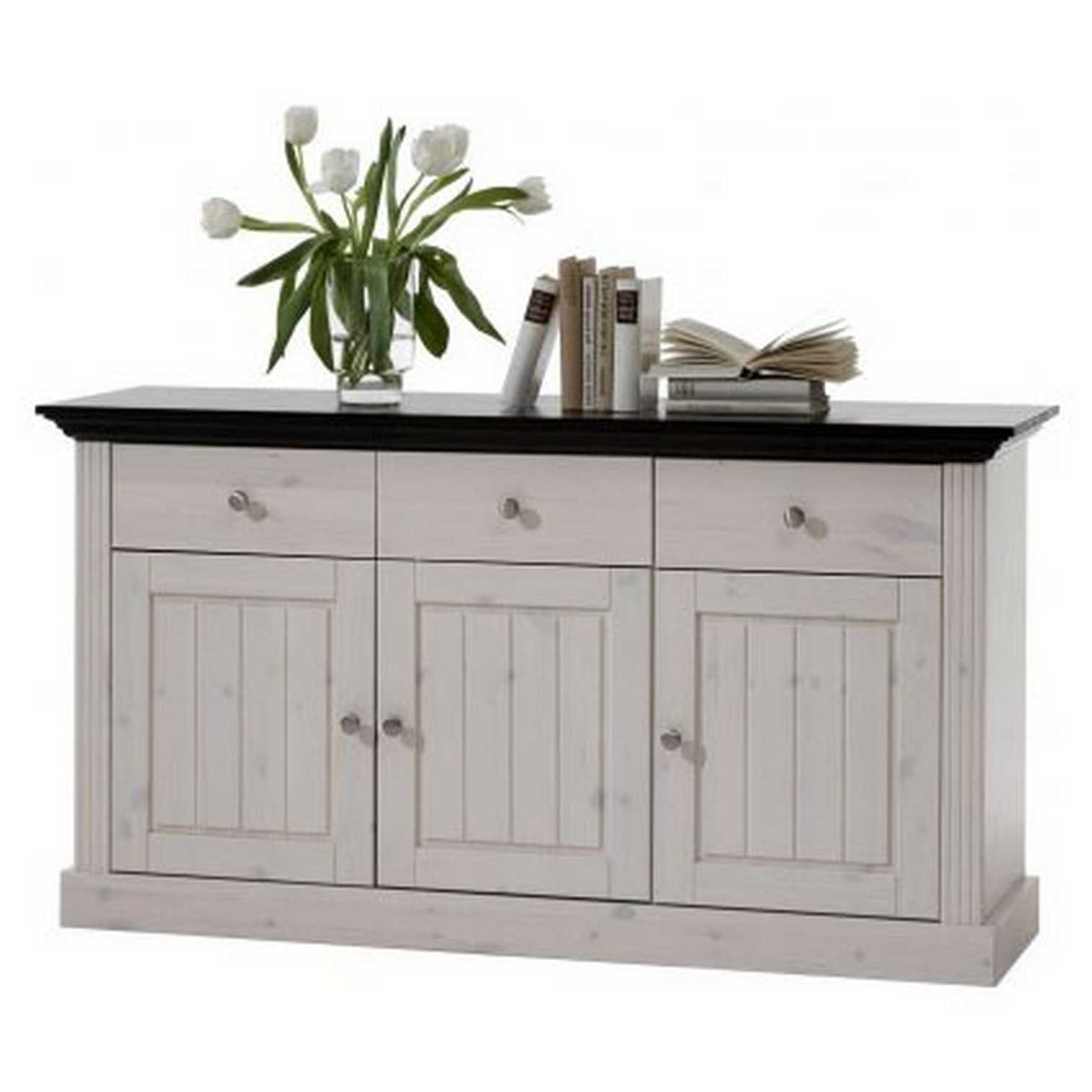 Most Current 4 Door 3 Drawer White Wash Sideboards Inside Monaco Three Door Three Drawer Sideboard (Gallery 8 of 20)