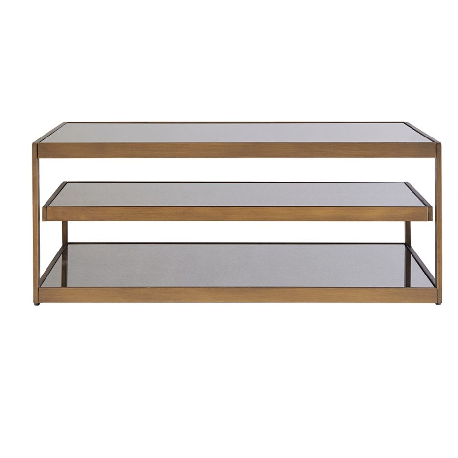 Most Current Acrylic Glass And Brass Coffee Tables Inside Acrylic And Brass Coffee Table Large Glass And Metal Coffee Table (View 18 of 20)