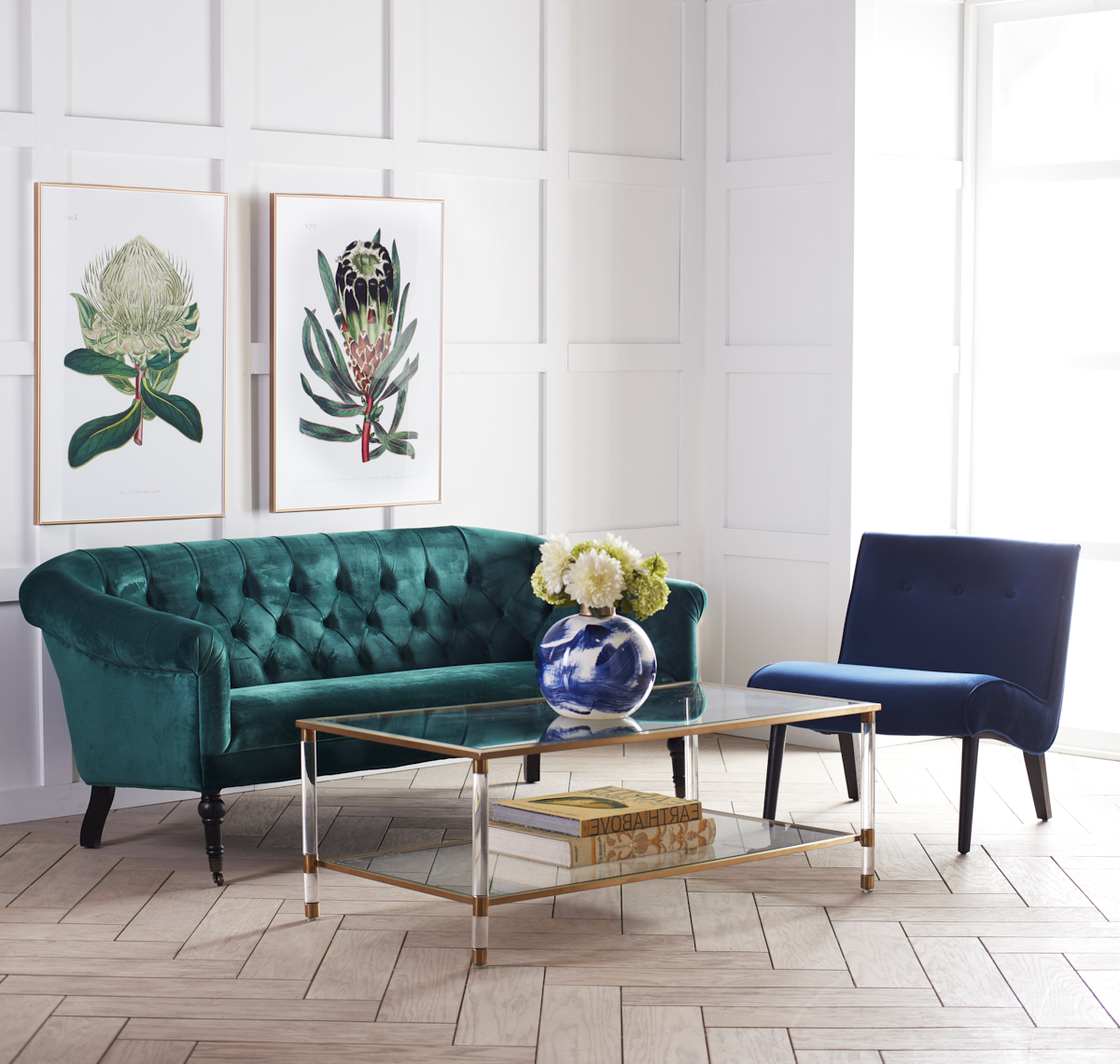 Most Current Acrylic Glass And Brass Coffee Tables Pertaining To Acrylic, Glass And Brass Coffee Table (View 14 of 20)