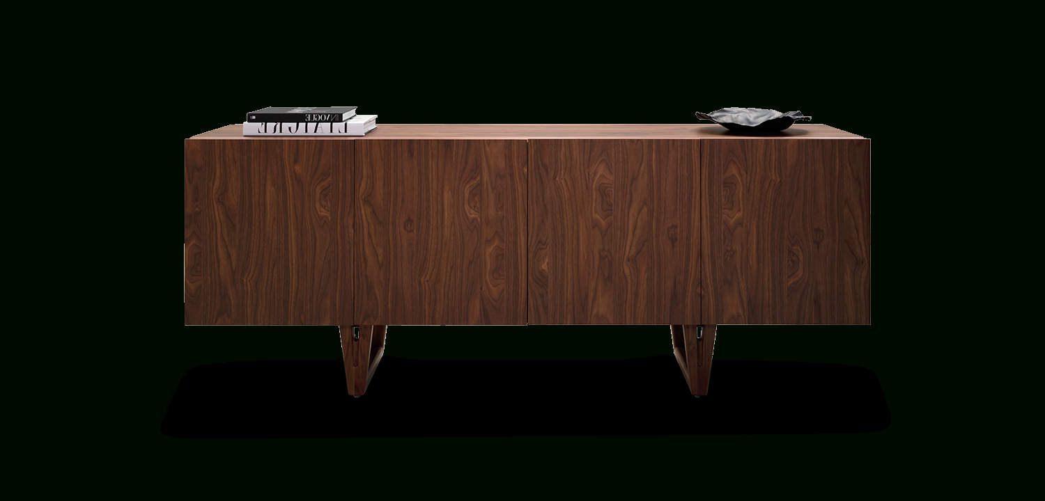 Most Current Aspen Sideboard 4 Door – Storage, Shelving & Entertainment Units With Walnut Finish 4 Door Sideboards (View 9 of 20)