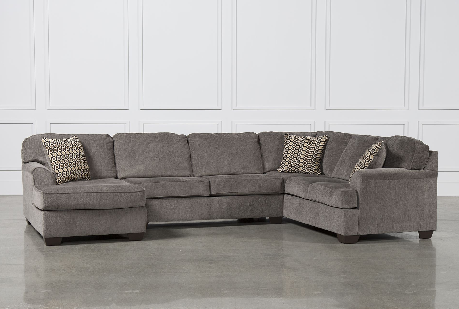 Most Current Awesome Collection Of Raf Chaise With Zella Charcoal 2 Piece Inside Norfolk Chocolate 6 Piece Sectionals With Raf Chaise (View 10 of 20)