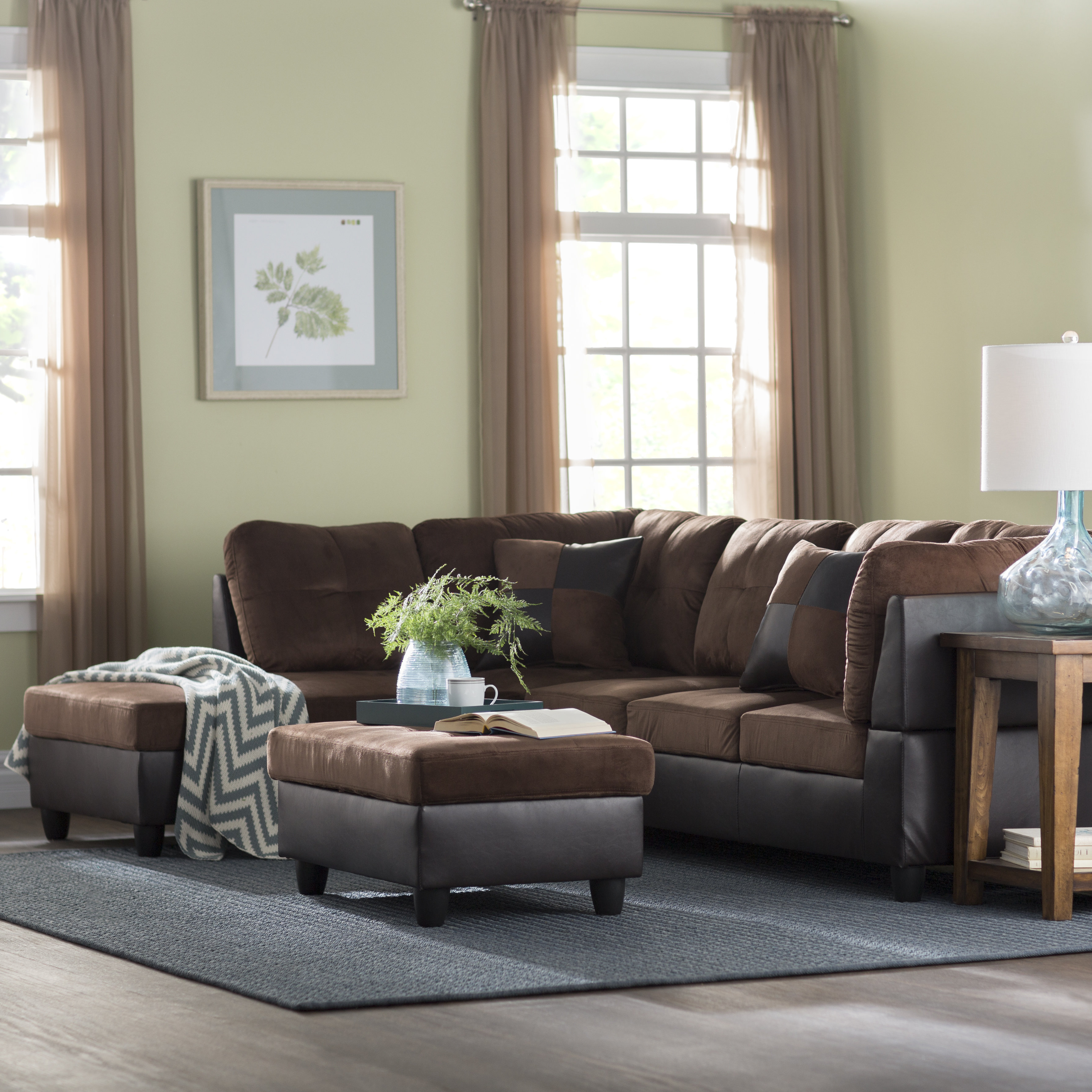 Most Current Blaine 4 Piece Sectionals Inside Andover Mills Russ Sectional With Ottoman & Reviews (View 14 of 20)