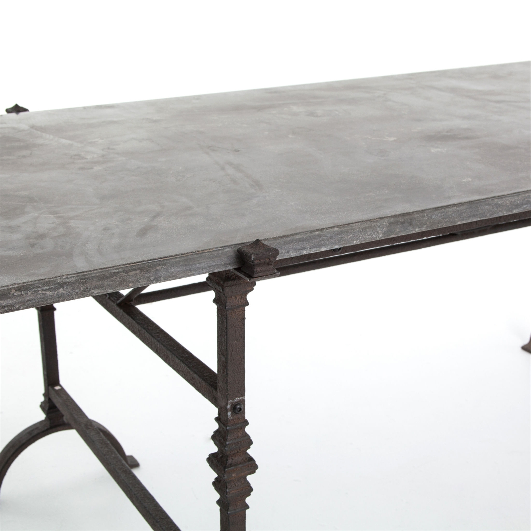 Most Current Bluestone Rustic Black Coffee Tables Inside Four Hands The Foundry Dining Table – Bluestone Top Cimp 6Aa (View 11 of 20)