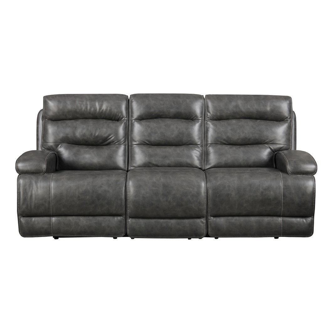 Most Current Burton Leather 3 Piece Sectionals Throughout Shop Emerald Home Burton Grey Power Motion Sofa – Free Shipping (View 13 of 20)